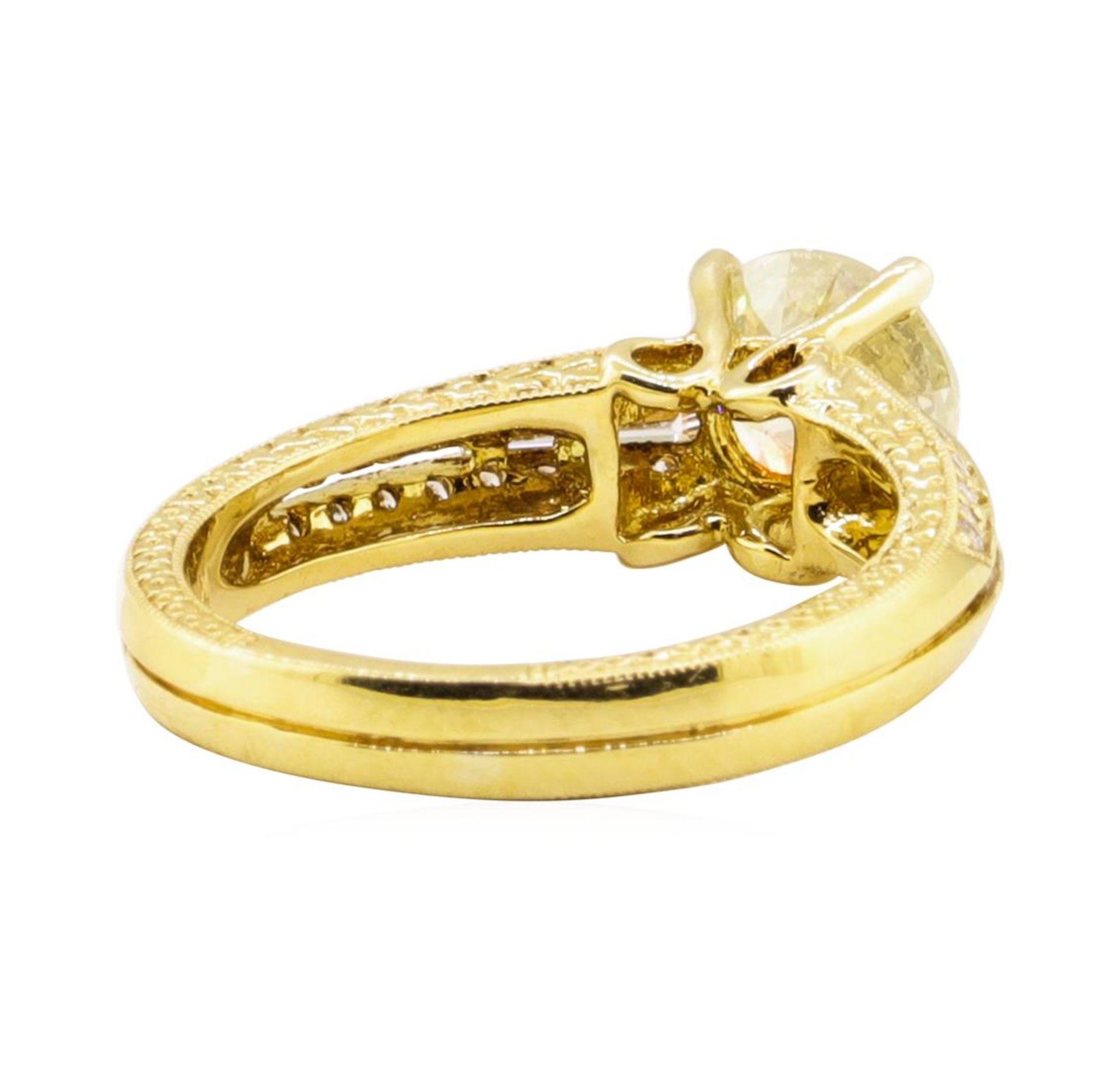 1.67ct Diamond Ring - 18KT Yellow Gold - Image 3 of 5