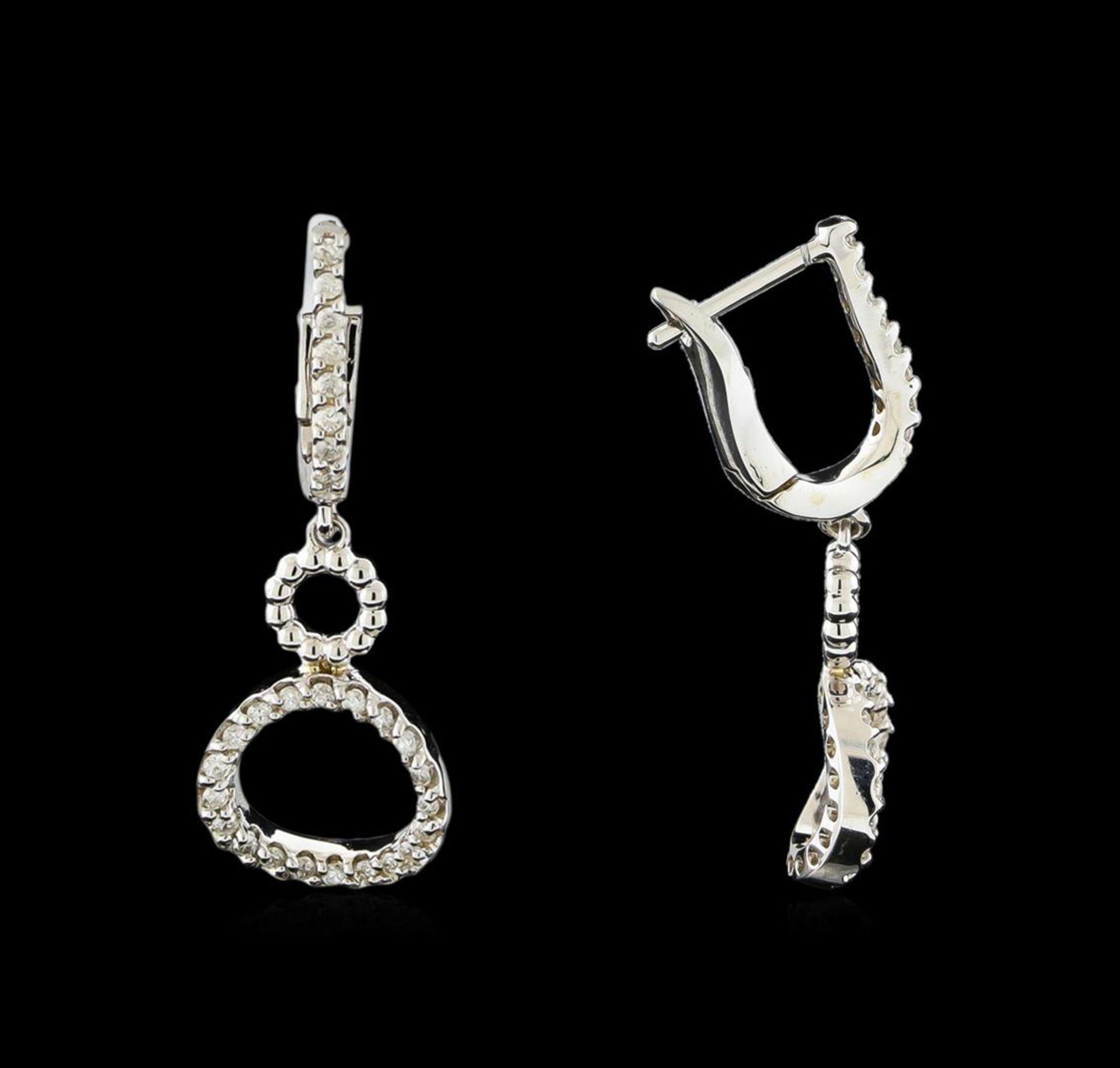 0.38 ctw Diamond Earrings - 14KT White Gold - Image 2 of 2