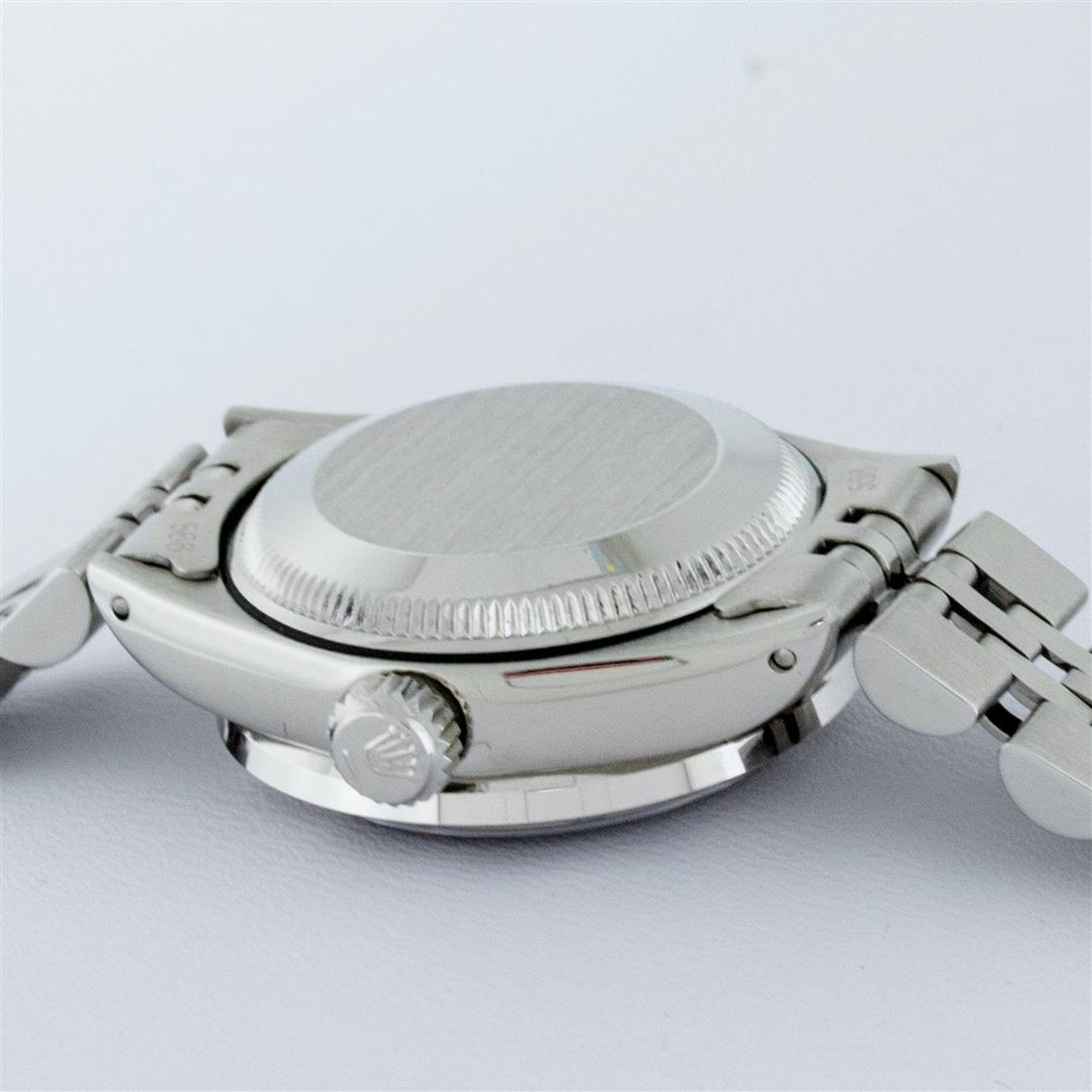 Rolex Ladies Stainless Steel Pink MOP Pyramid Diamond Datejust Wristwatch 26MM - Image 8 of 9