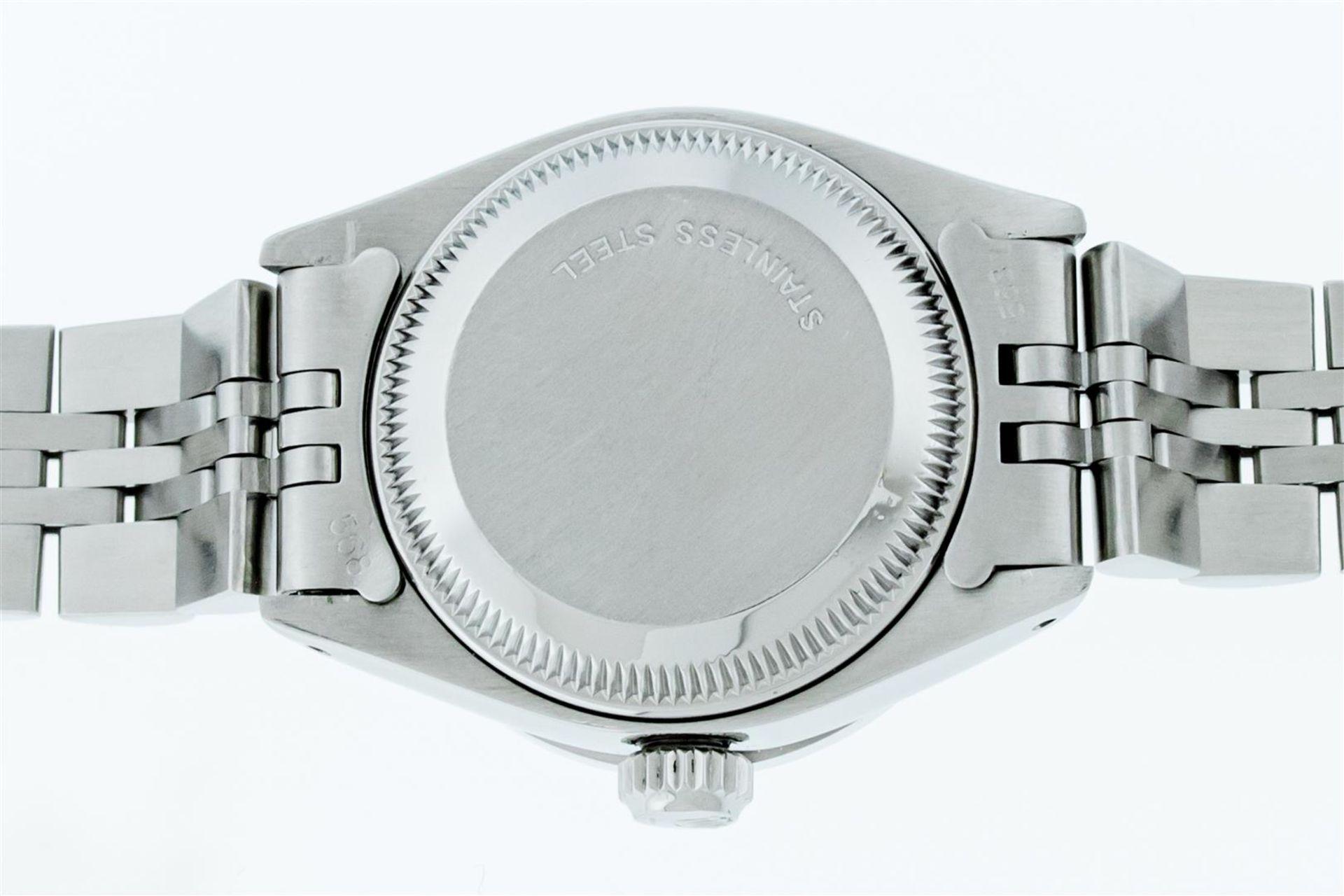 Rolex Ladies Stainless Steel Blue VVS Diamond & Sapphire Datejust Wristwatch - Image 9 of 9