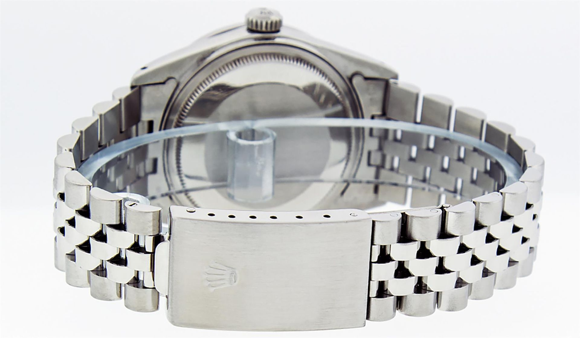 Rolex Mens Stainless Steel 36MM Slate Grey Diamond Oyster Perpetual Datejust Wri - Image 5 of 9