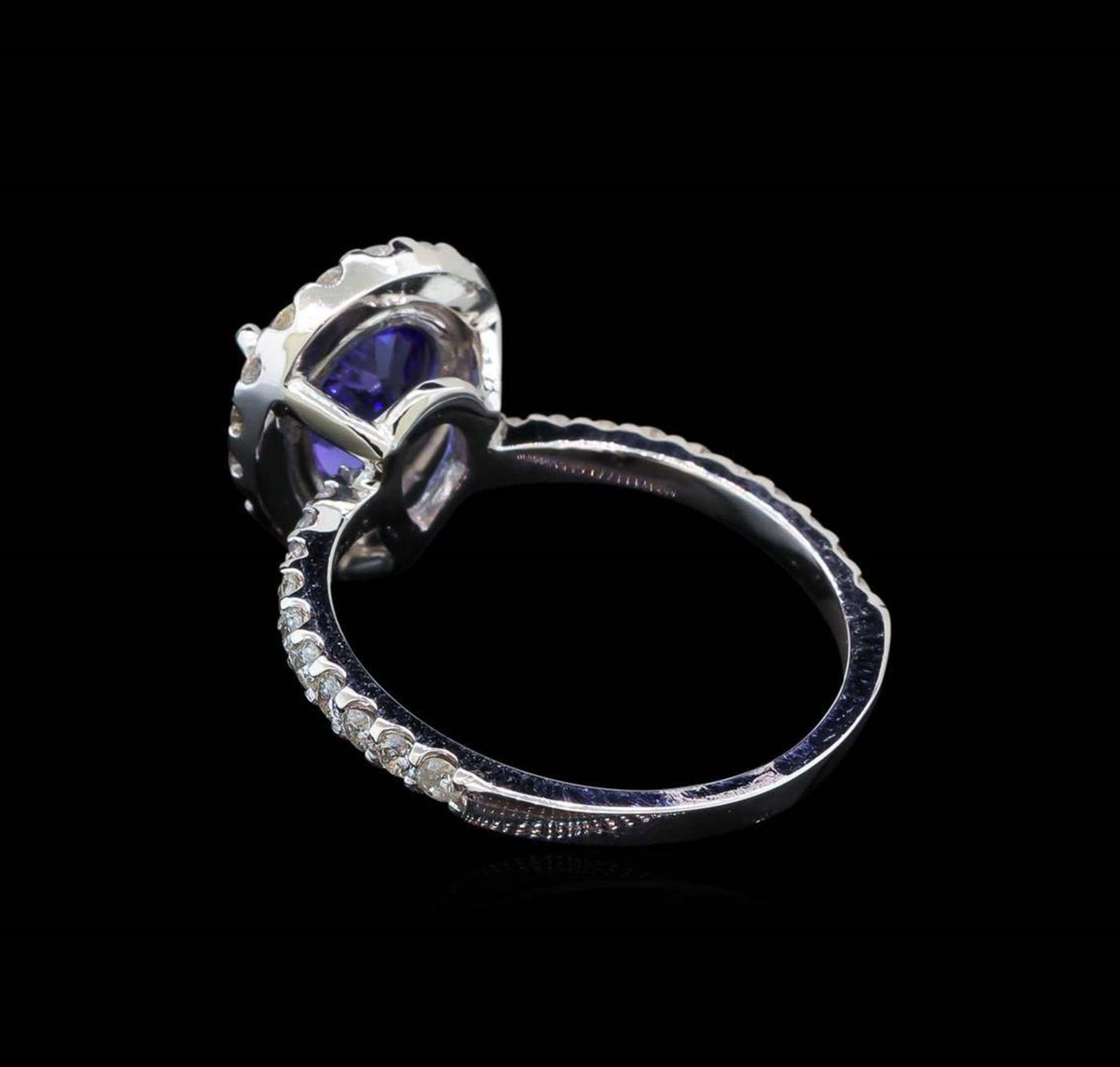 2.20 ctw Tanzanite and Diamond Ring - 14KT White Gold - Image 3 of 5