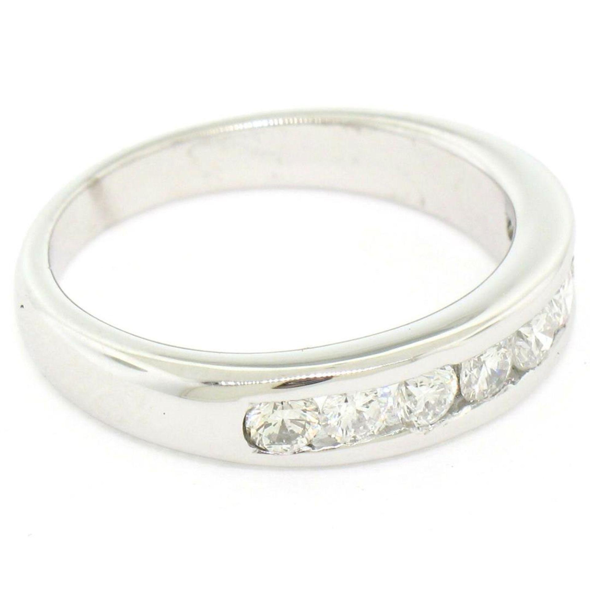 Classic Platinum .80ctw Channel Set Round Brilliant VS Diamond Wedding Band Ring - Image 6 of 8
