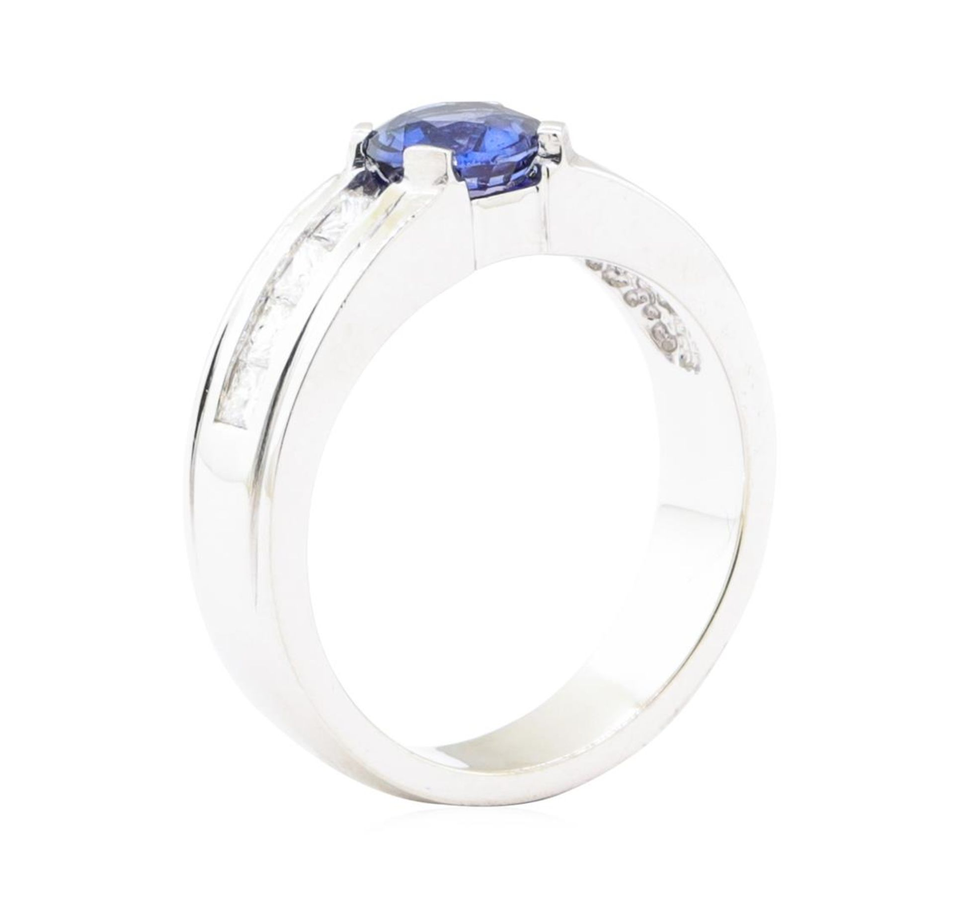 1.79ctw Sapphire and Diamond Ring - 14KT White Gold - Image 4 of 4