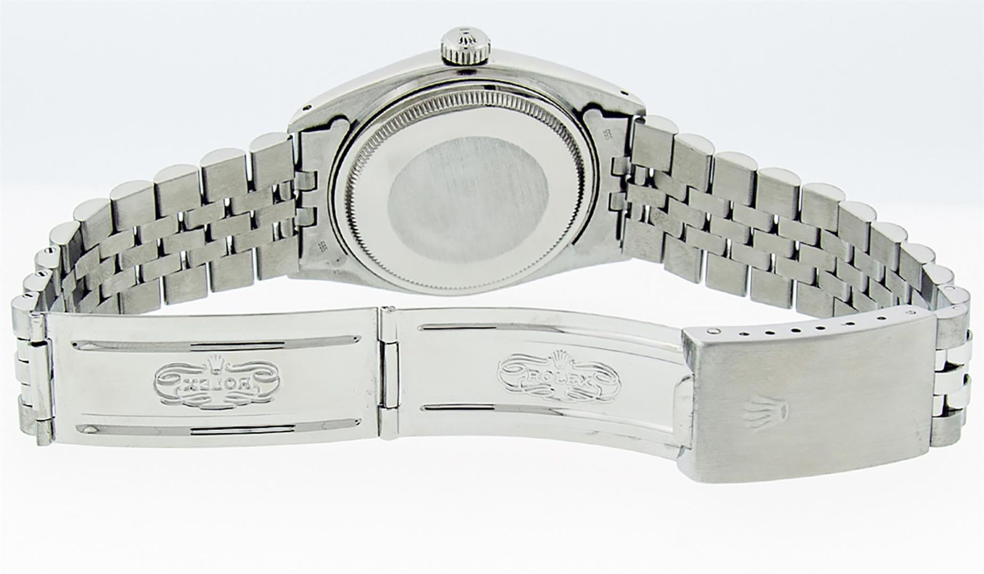 Rolex Mens Stainless Steel 36MM Slate Grey Diamond Oyster Perpetual Datejust Wri - Image 8 of 9