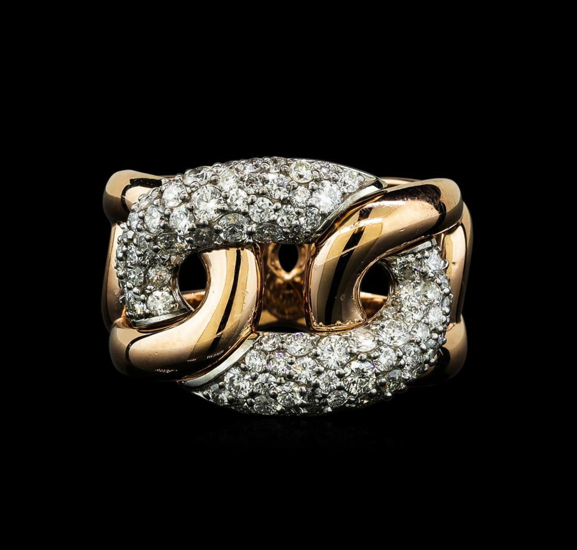 1.35 ctw Diamond Ring - 14KT Rose and White Gold - Image 2 of 5