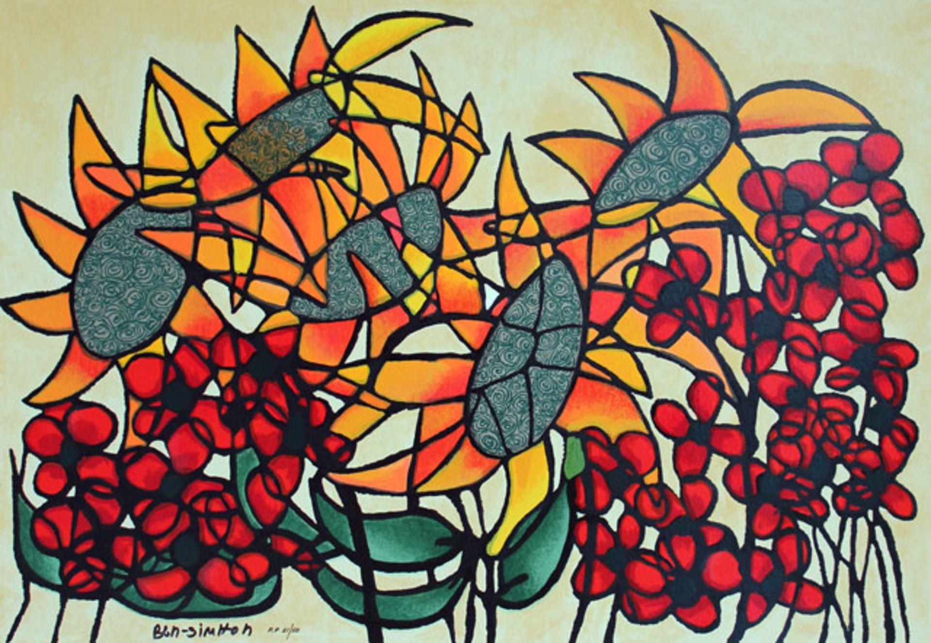 Avi Ben-Simhon Sunflowers - Image 2 of 3