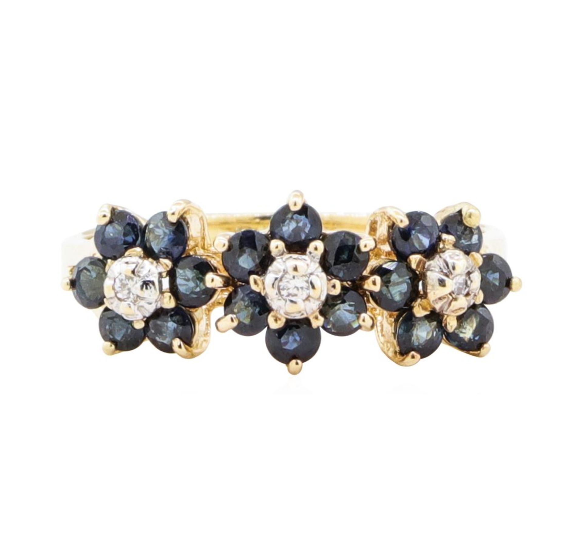 1.05ctw Sapphire and Diamond Ring - 14KT Yellow Gold - Image 2 of 4