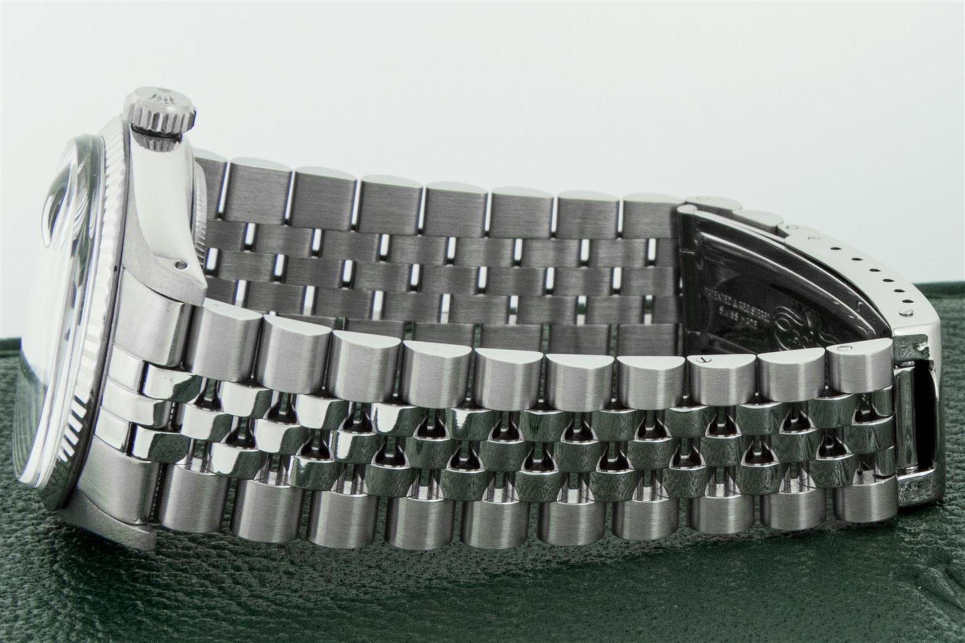 Rolex Mens Stainless Steel Meteorite Diamond 36MM Oyster Perpetual Datejust Wris - Image 9 of 9