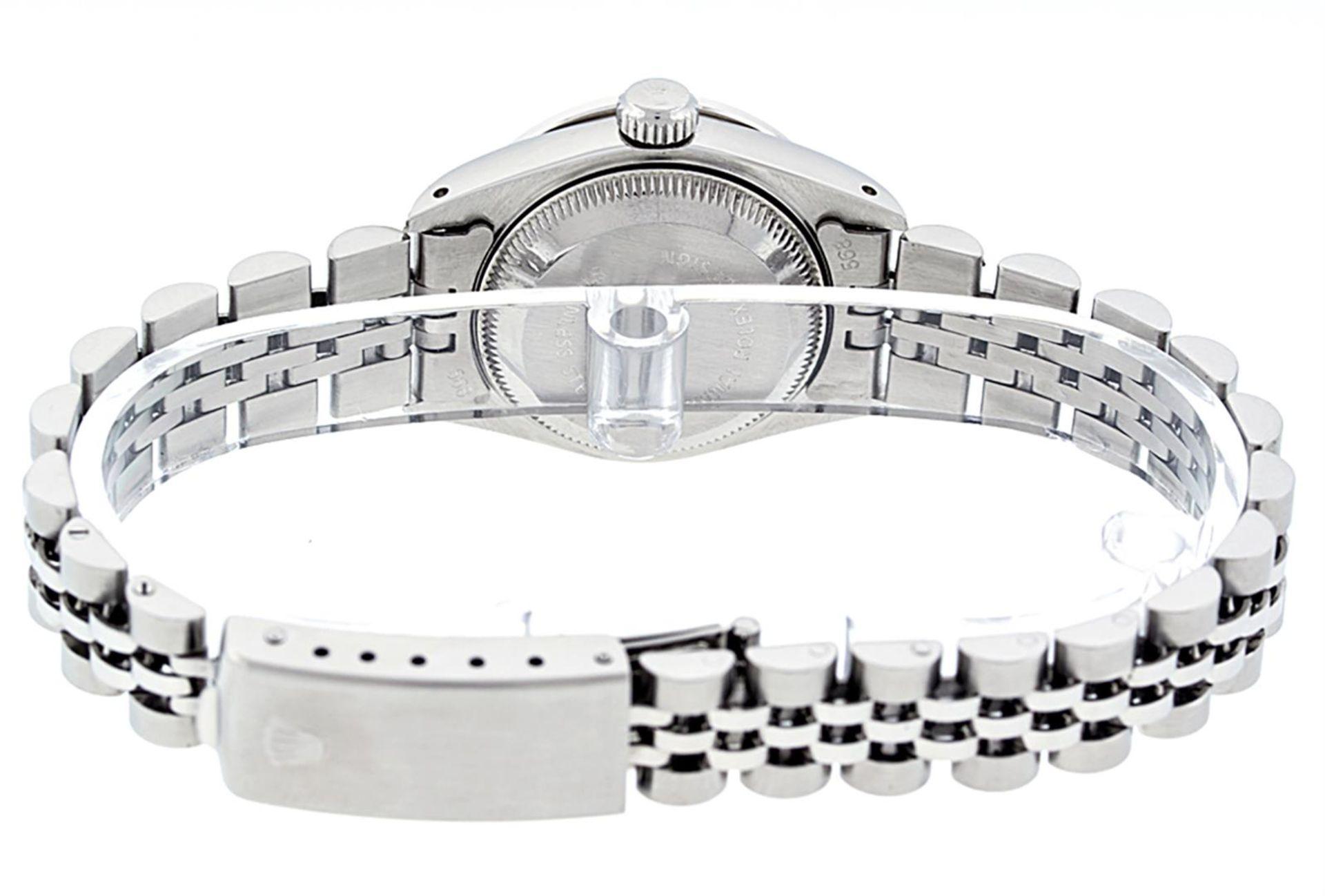 Rolex Ladies Stainless Steel 26MM Orange String Diamond Lugs Datejust Wristwatch - Image 7 of 9