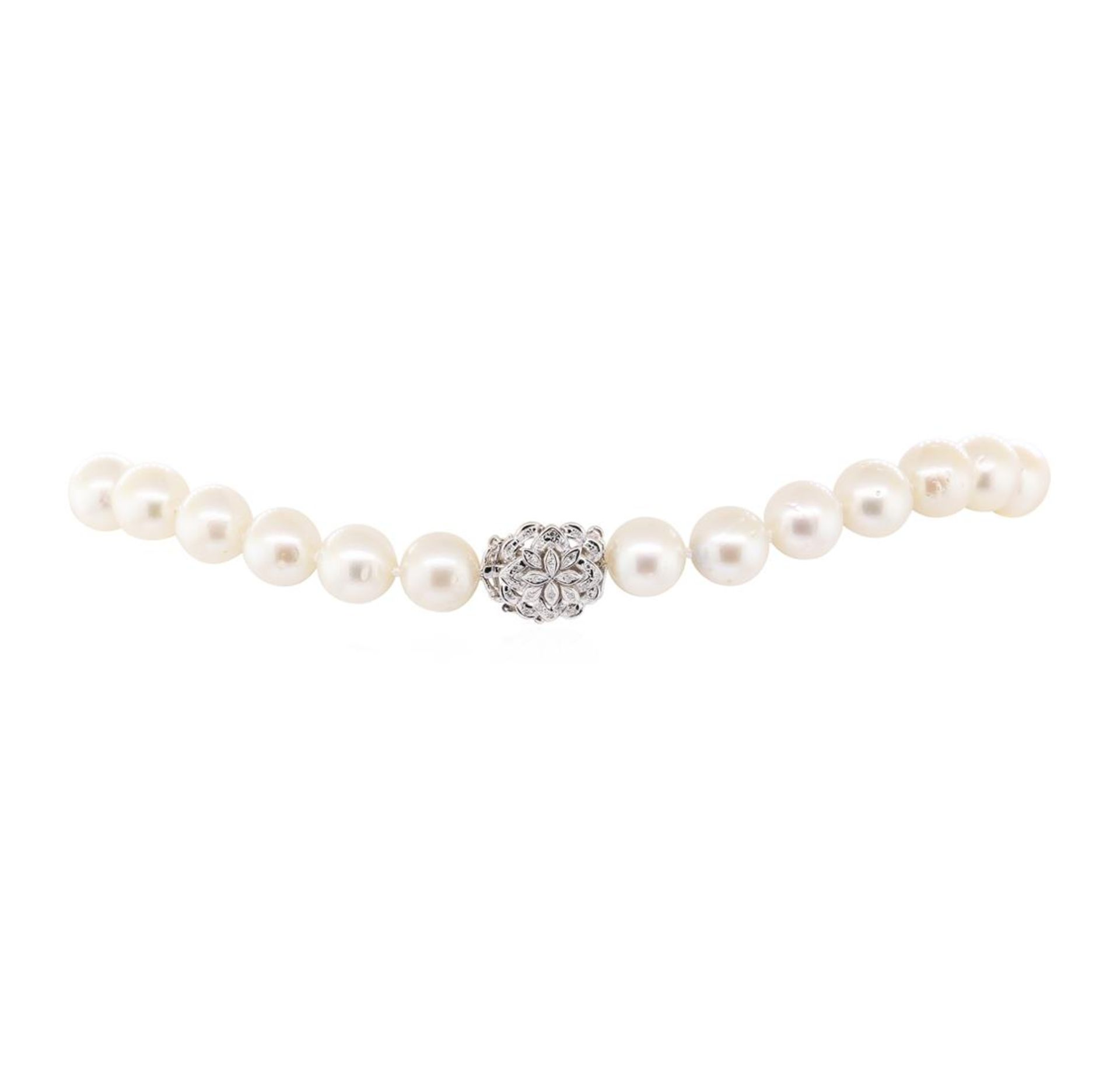 0.60 ctw Diamond and South Sea Pearl Necklace - Image 3 of 4