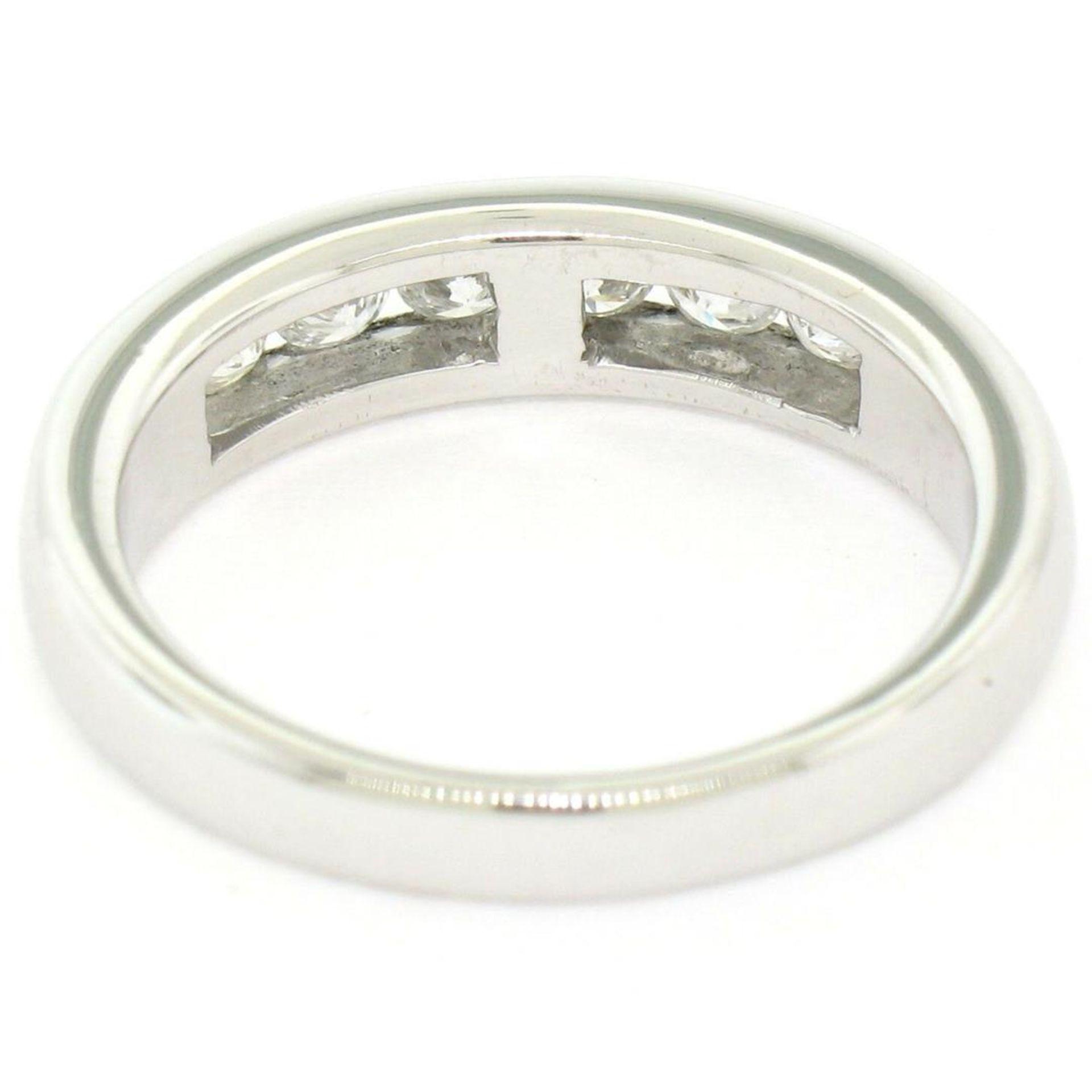 Classic Platinum .80ctw Channel Set Round Brilliant VS Diamond Wedding Band Ring - Image 7 of 8