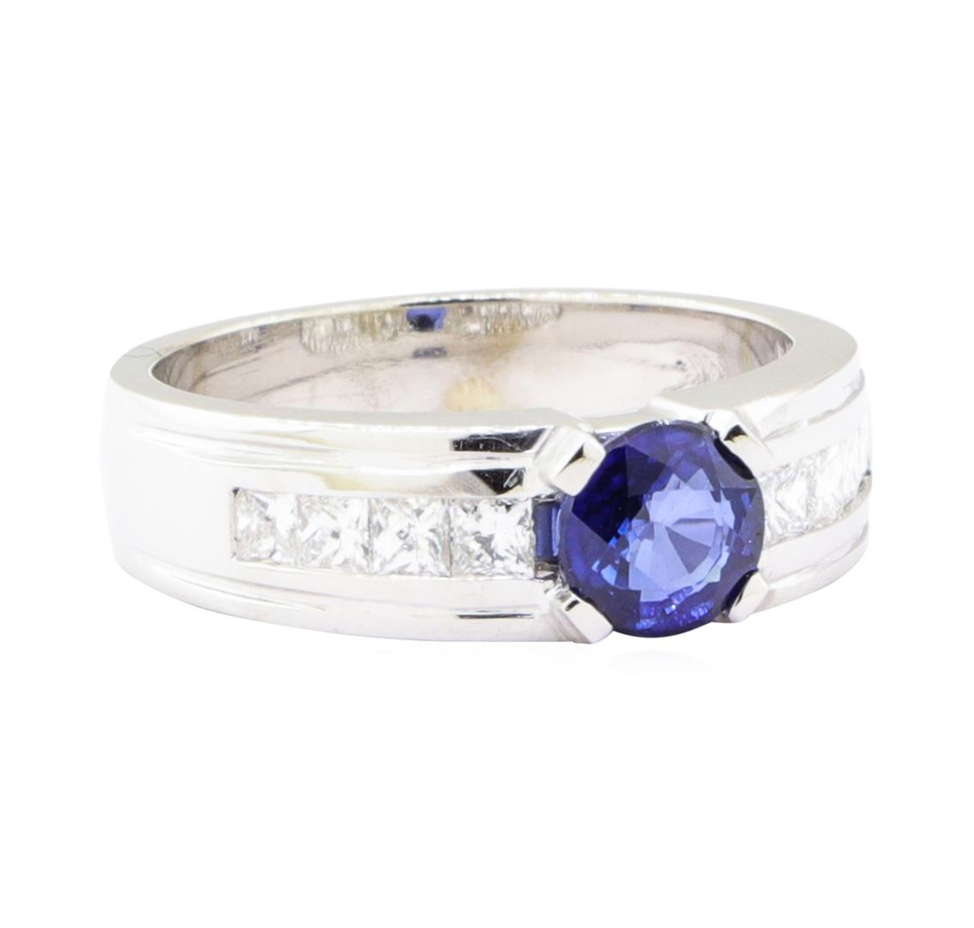 1.79ctw Sapphire and Diamond Ring - 14KT White Gold