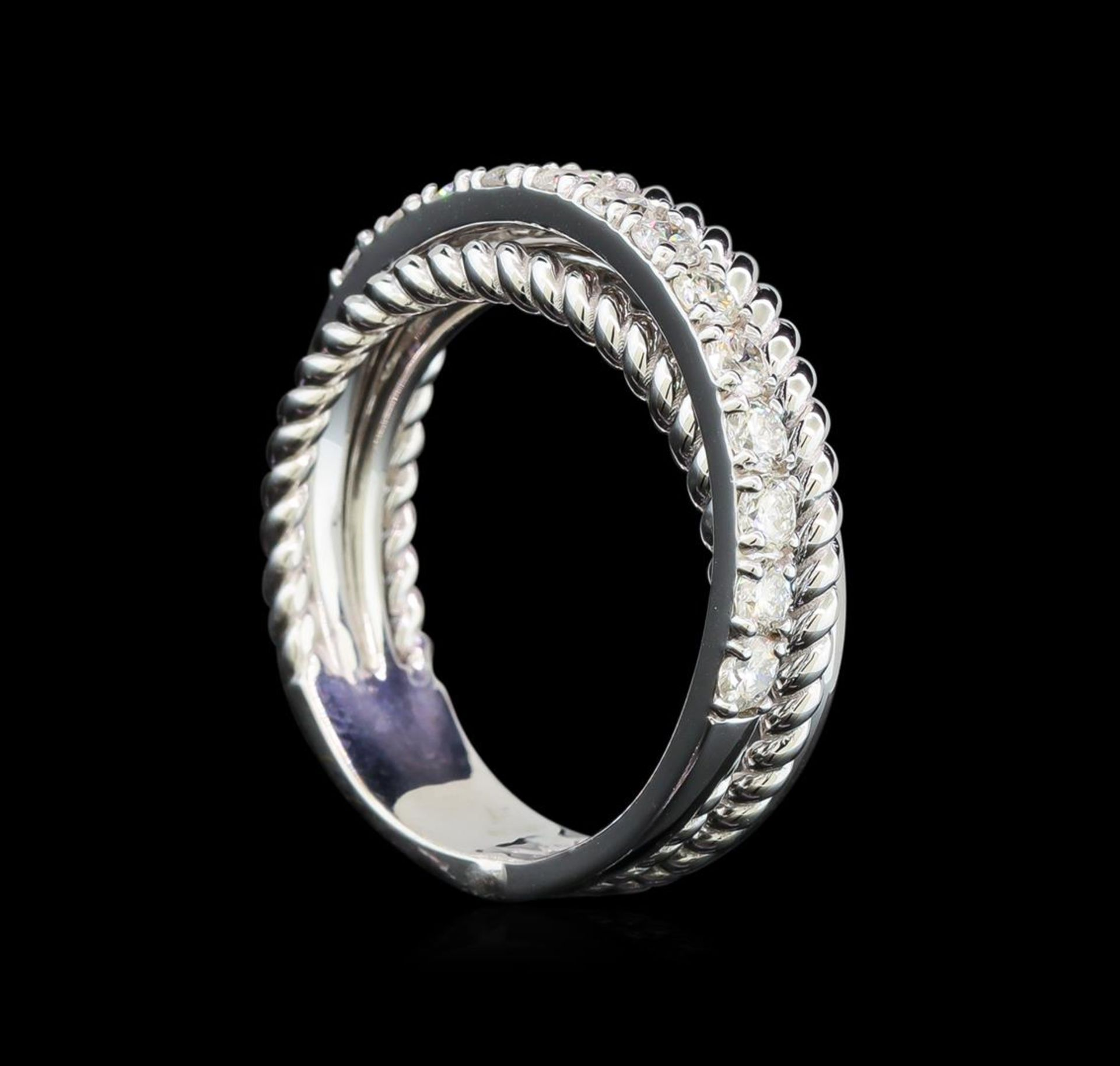 0.65 ctw Diamond Ring - 14KT White Gold - Image 3 of 3