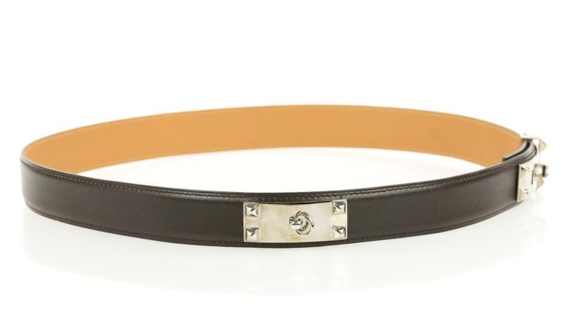 Hermes Brown Collier De Chien Belt