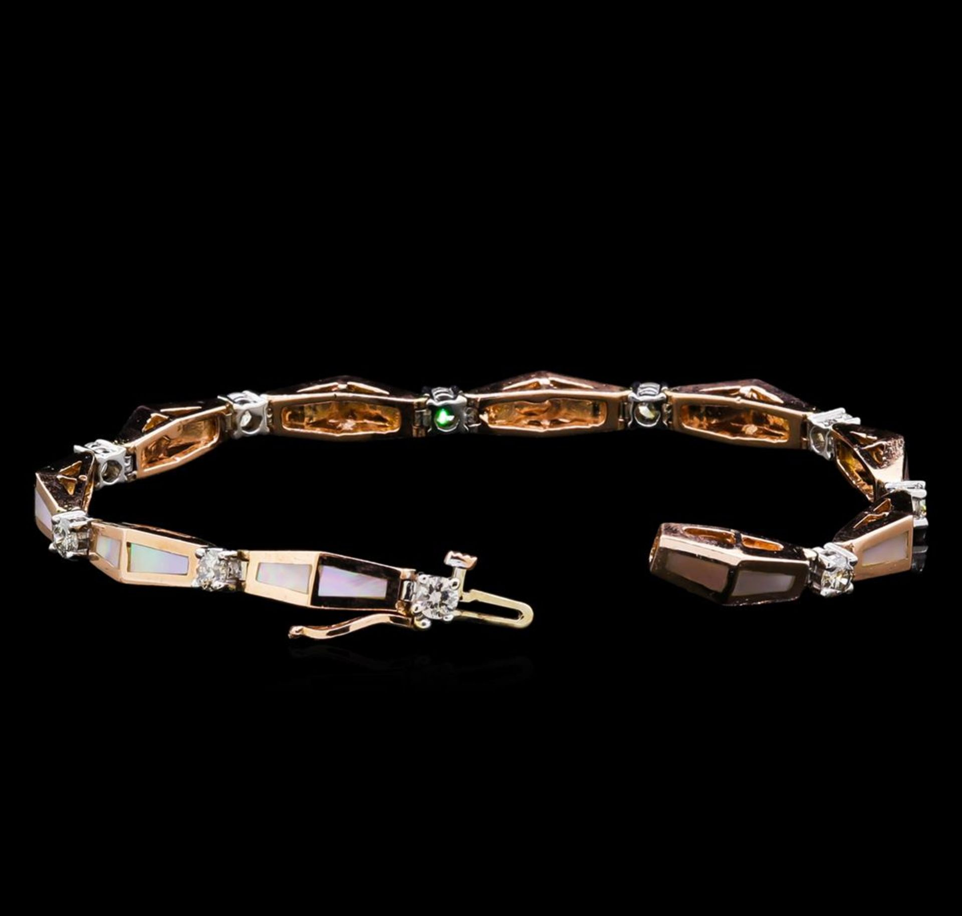 14KT Two-Tone Gold 0.67 ctw Diamond Bracelet - Image 3 of 4