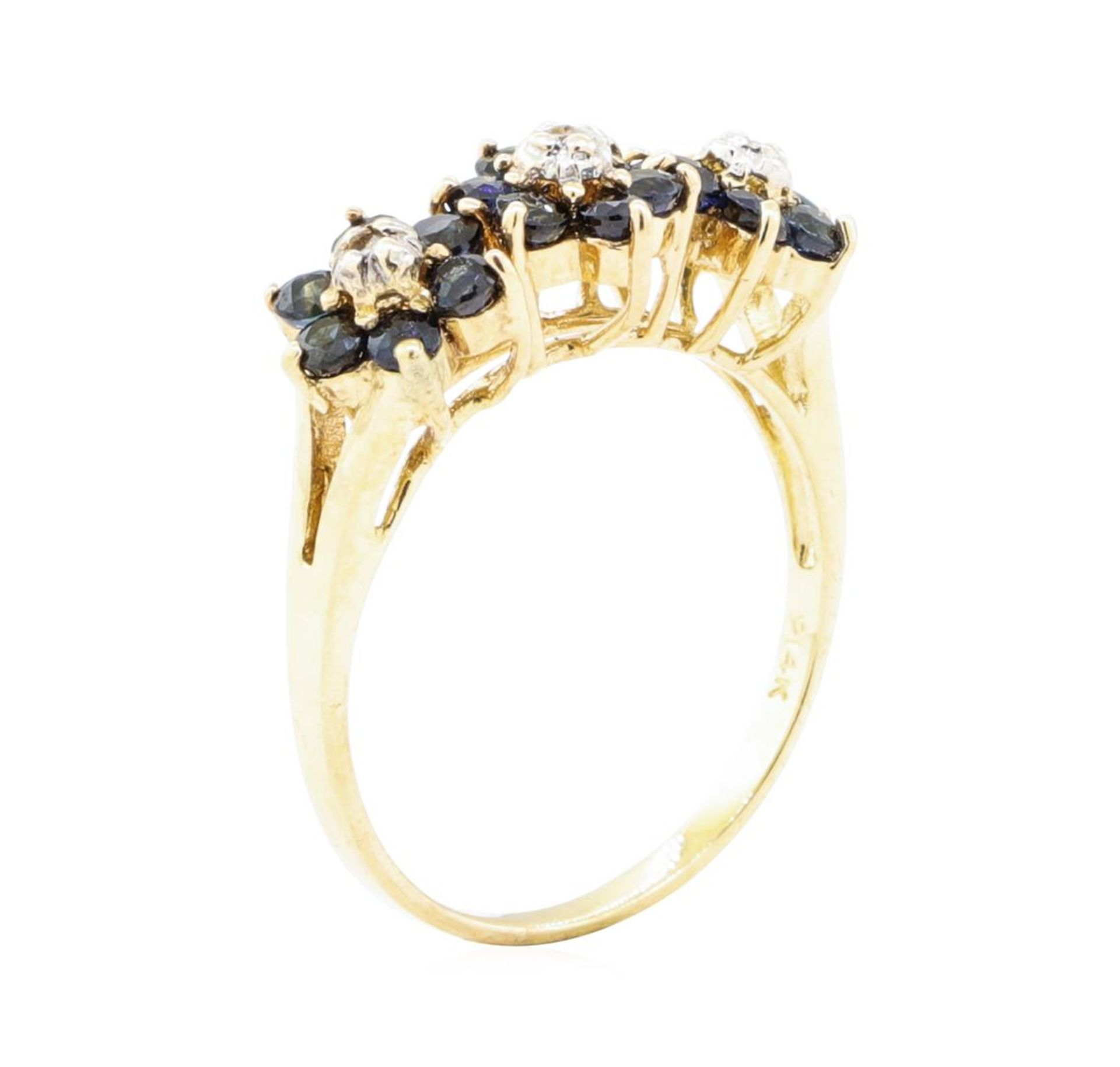 1.05ctw Sapphire and Diamond Ring - 14KT Yellow Gold - Image 4 of 4