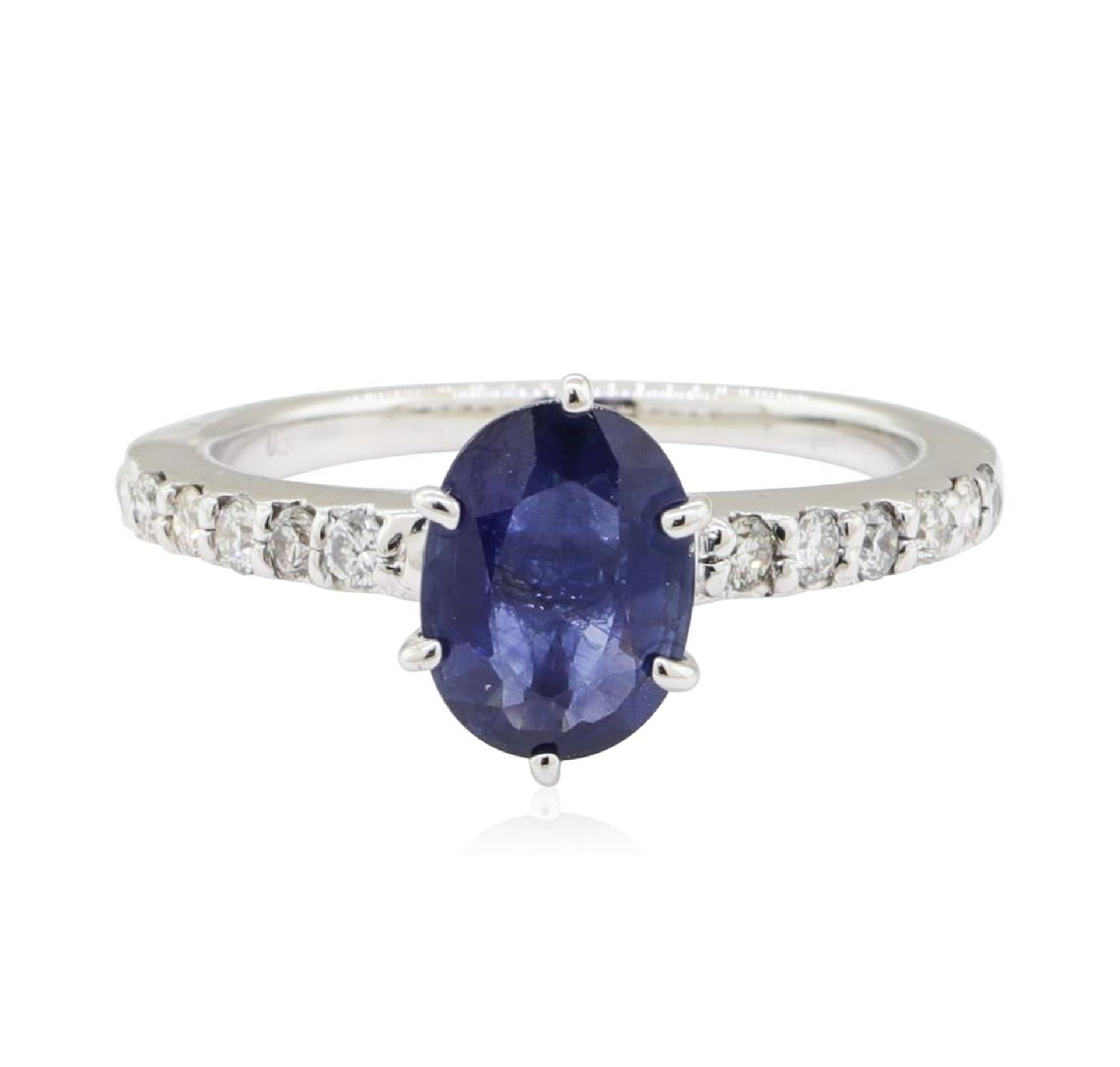 1.25ctw Sapphire and Diamond Ring - 14KT White Gold - Image 2 of 4