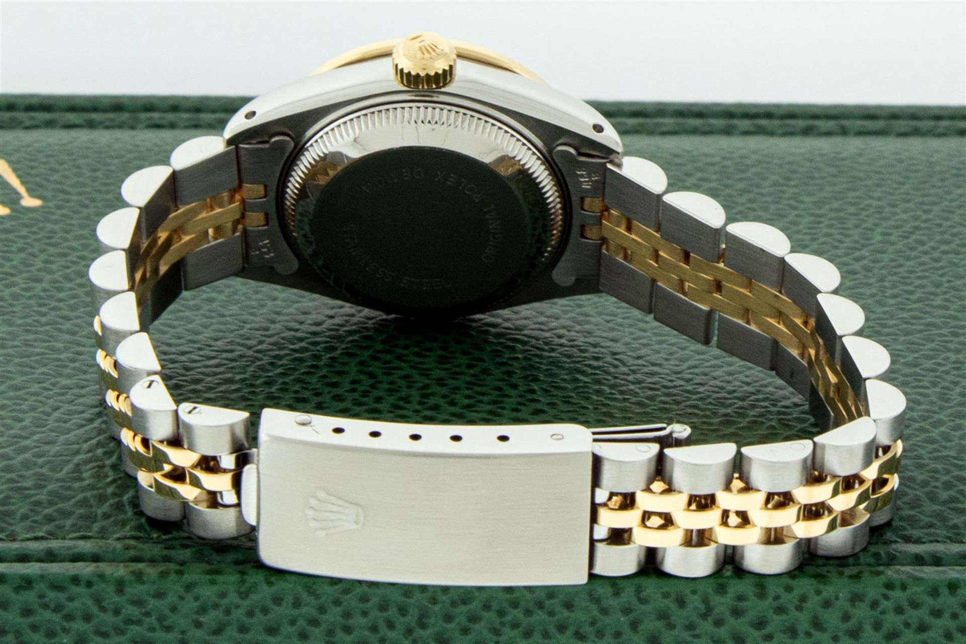 Rolex Ladies 2 Tone Silver Diamond & Ruby Oyster Perpetual Datejust Wristwatch - Image 7 of 9
