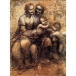 Leonardo da Vinci - Mary, Christ, St. Anne and the Infant St. John