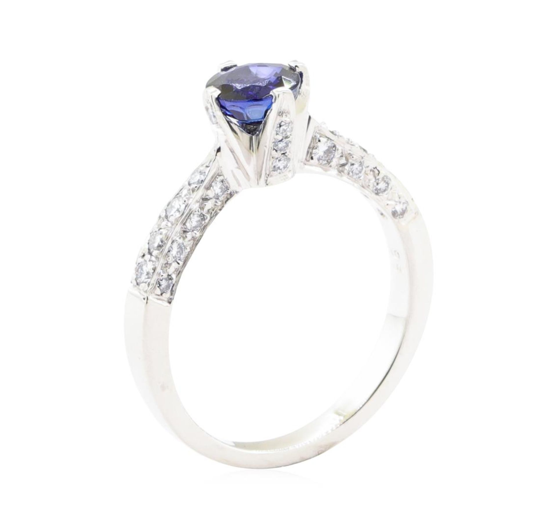 1.69 ctw Sapphire And Diamond Ring - Platinum - Image 4 of 5