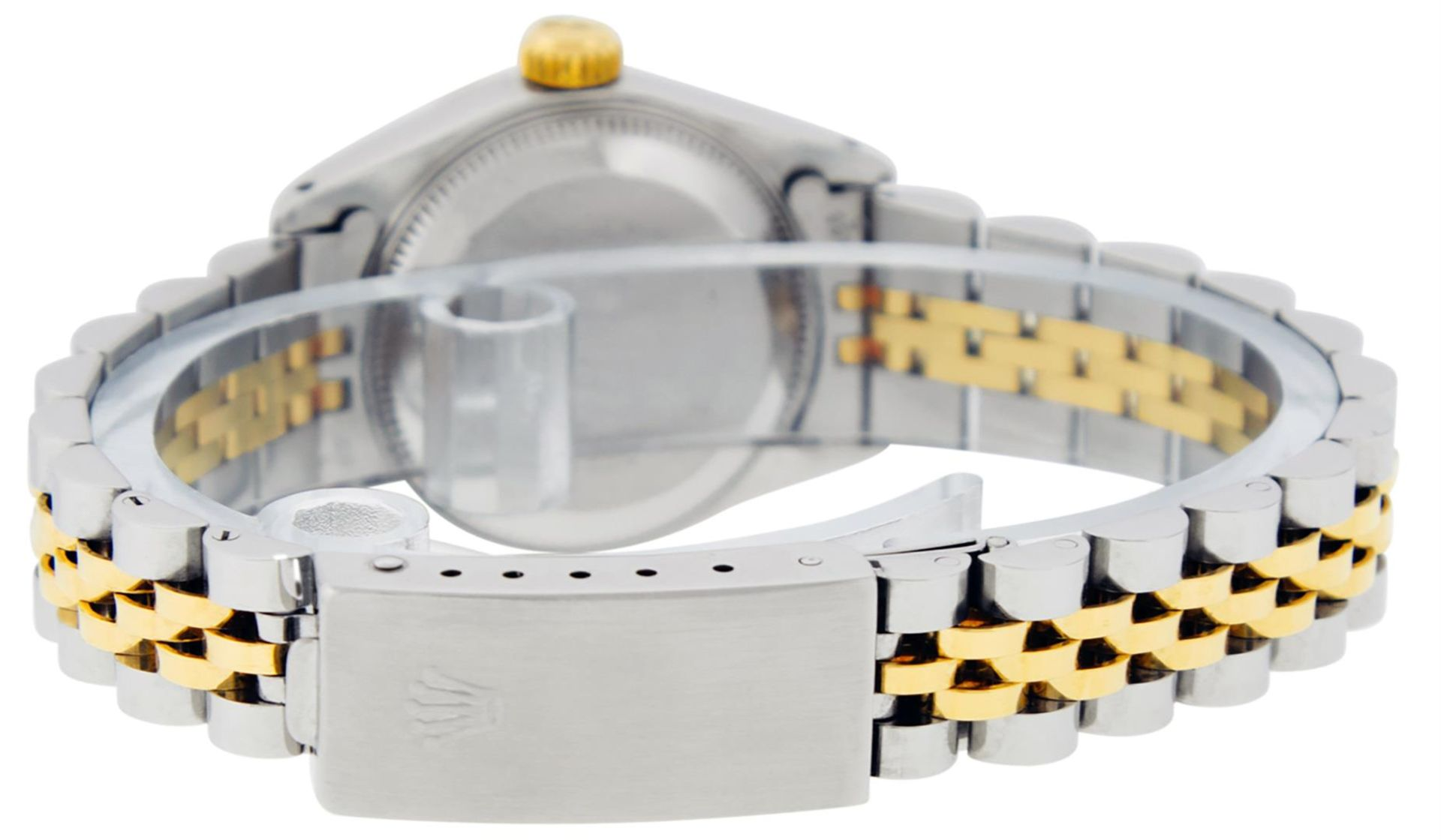 Rolex Ladies 2 Tone Factory Champagne Roman Fluted Datejust Wristwatch - Image 8 of 9
