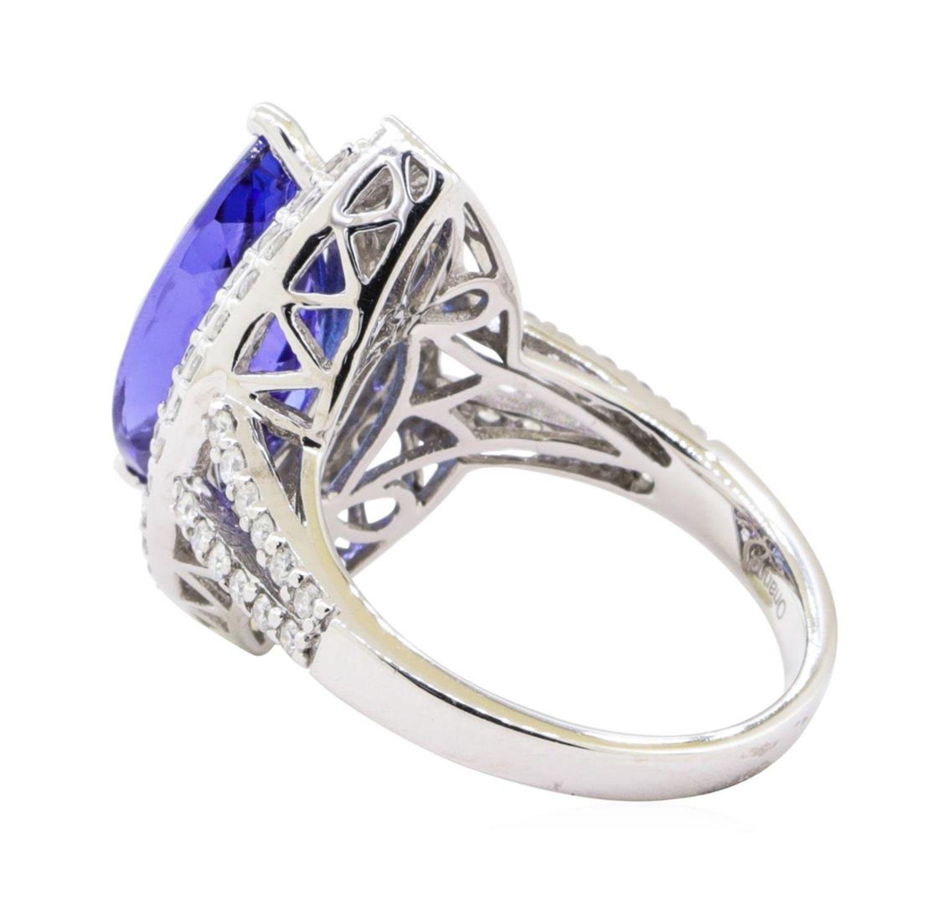 4.17ct Tanzanite and Diamond Ring - 14KT White Gold - Image 3 of 4