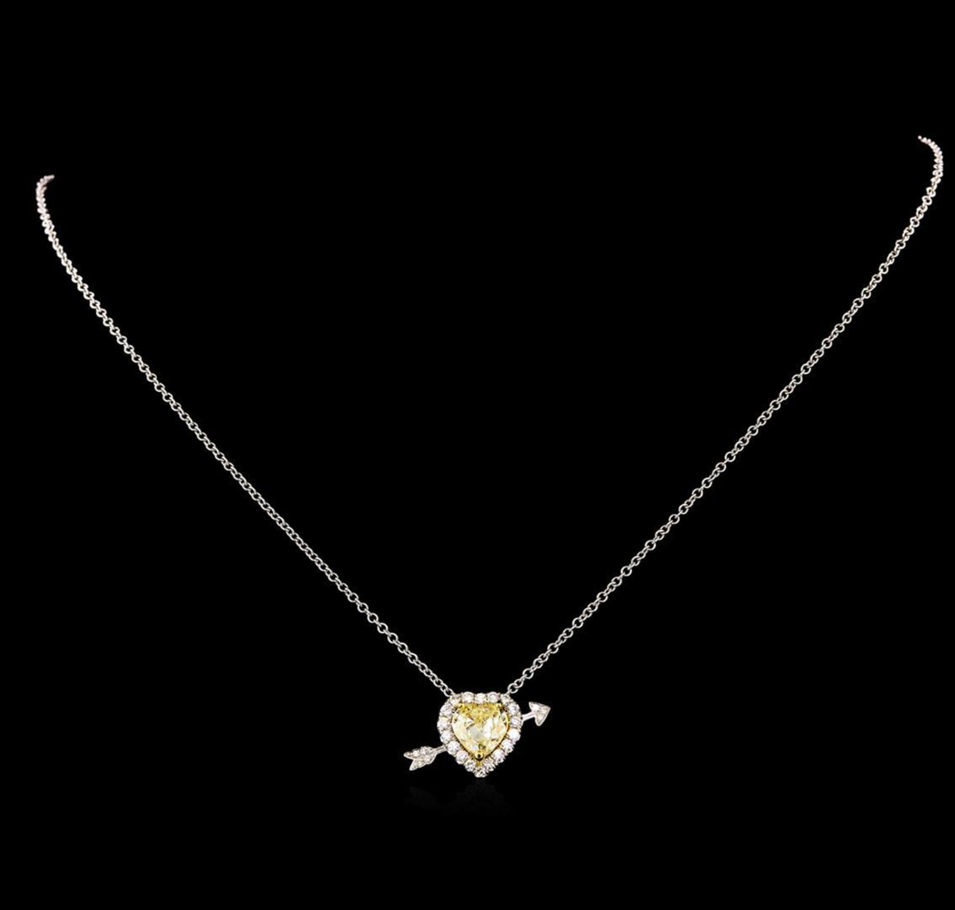 18KT Two-Tone Gold 2.25 ctw Diamond Pendant With Chain - Image 2 of 4