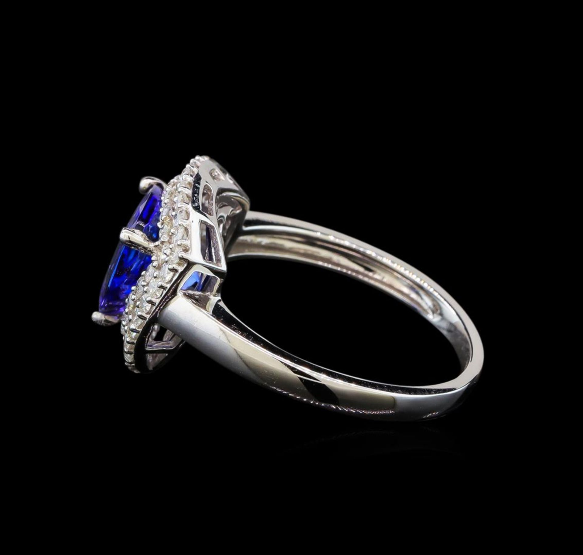 14KT White Gold 2.09 ctw Tanzanite and Diamond Ring - Image 3 of 5