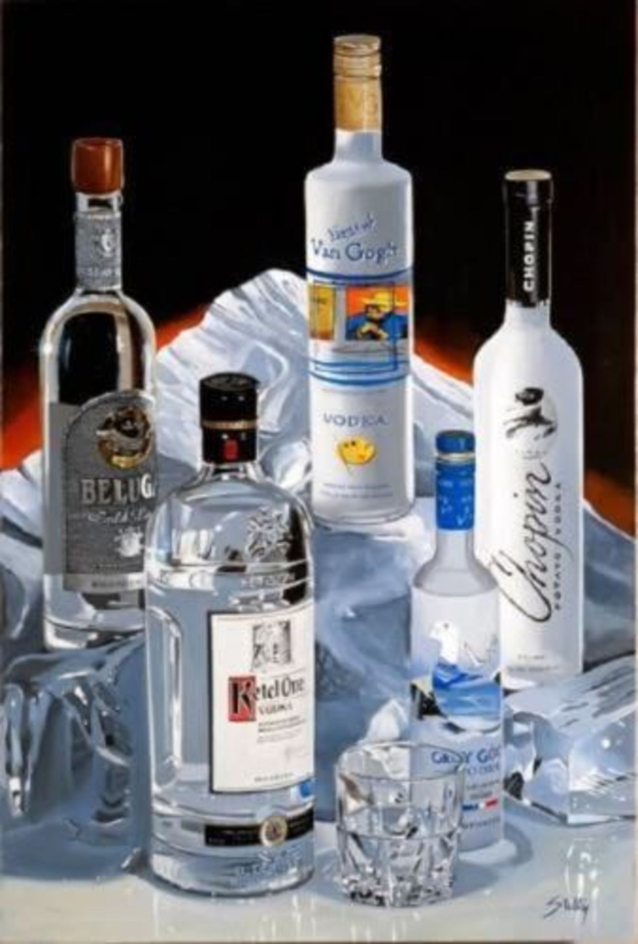 "Thomas Stiltz ""Vodka on the Rocks 36x24"""