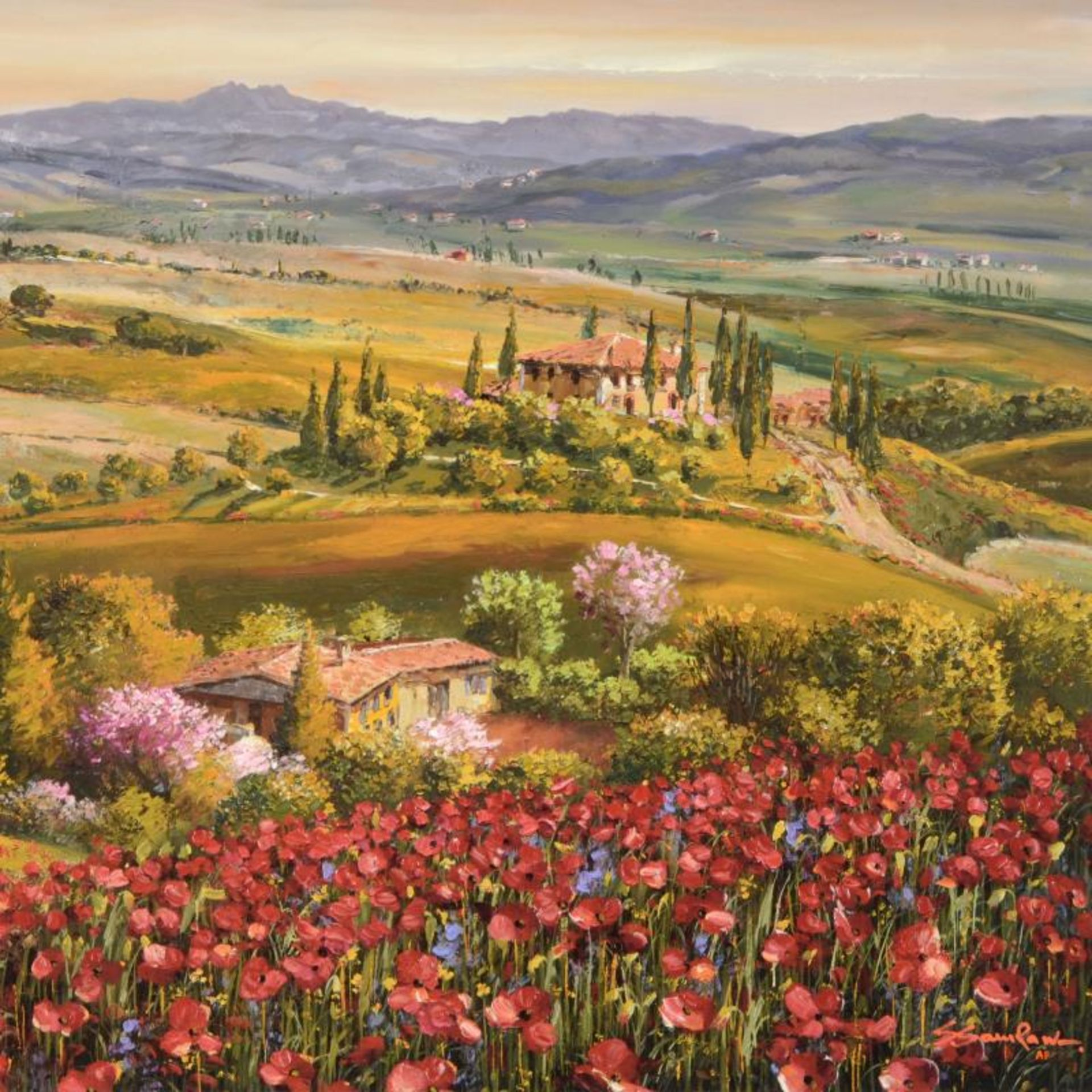 Tuscany Red Poppies by Park, S. Sam - Image 2 of 2