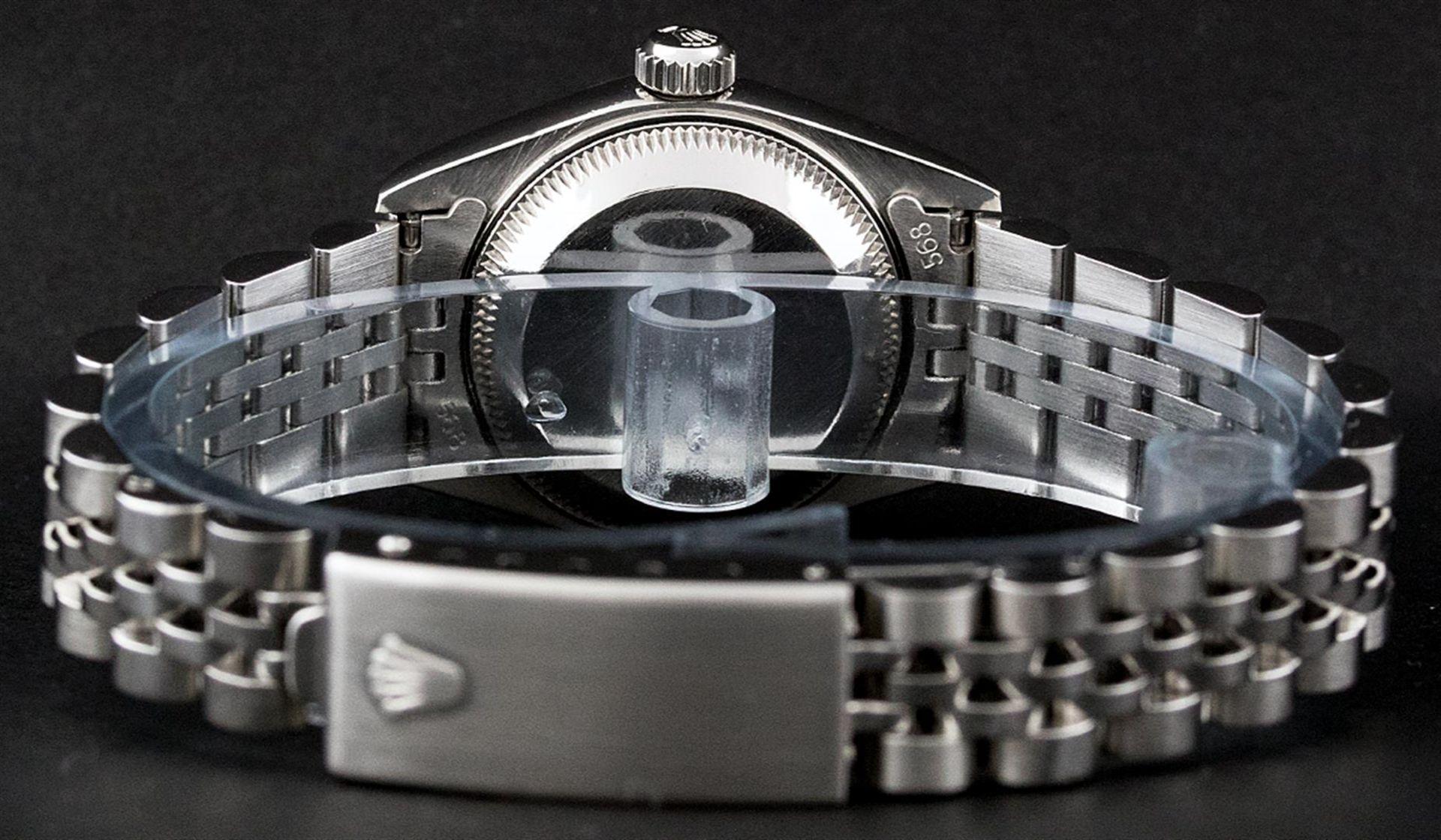 Rolex Ladies Stainless Steel Silver Index 26MM Quickset Datejust Wristwatch - Image 7 of 9