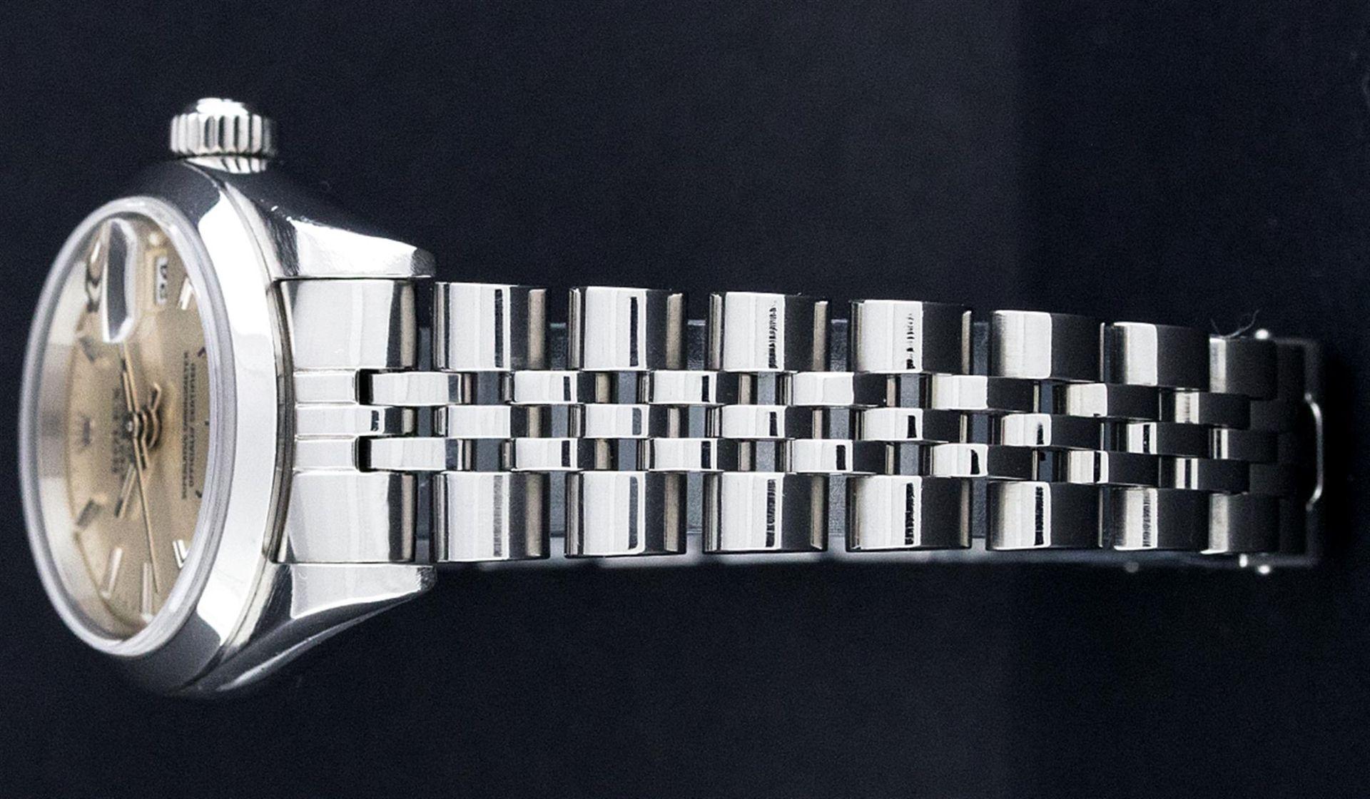 Rolex Ladies Stainless Steel Silver Index 26MM Quickset Datejust Wristwatch - Image 3 of 9