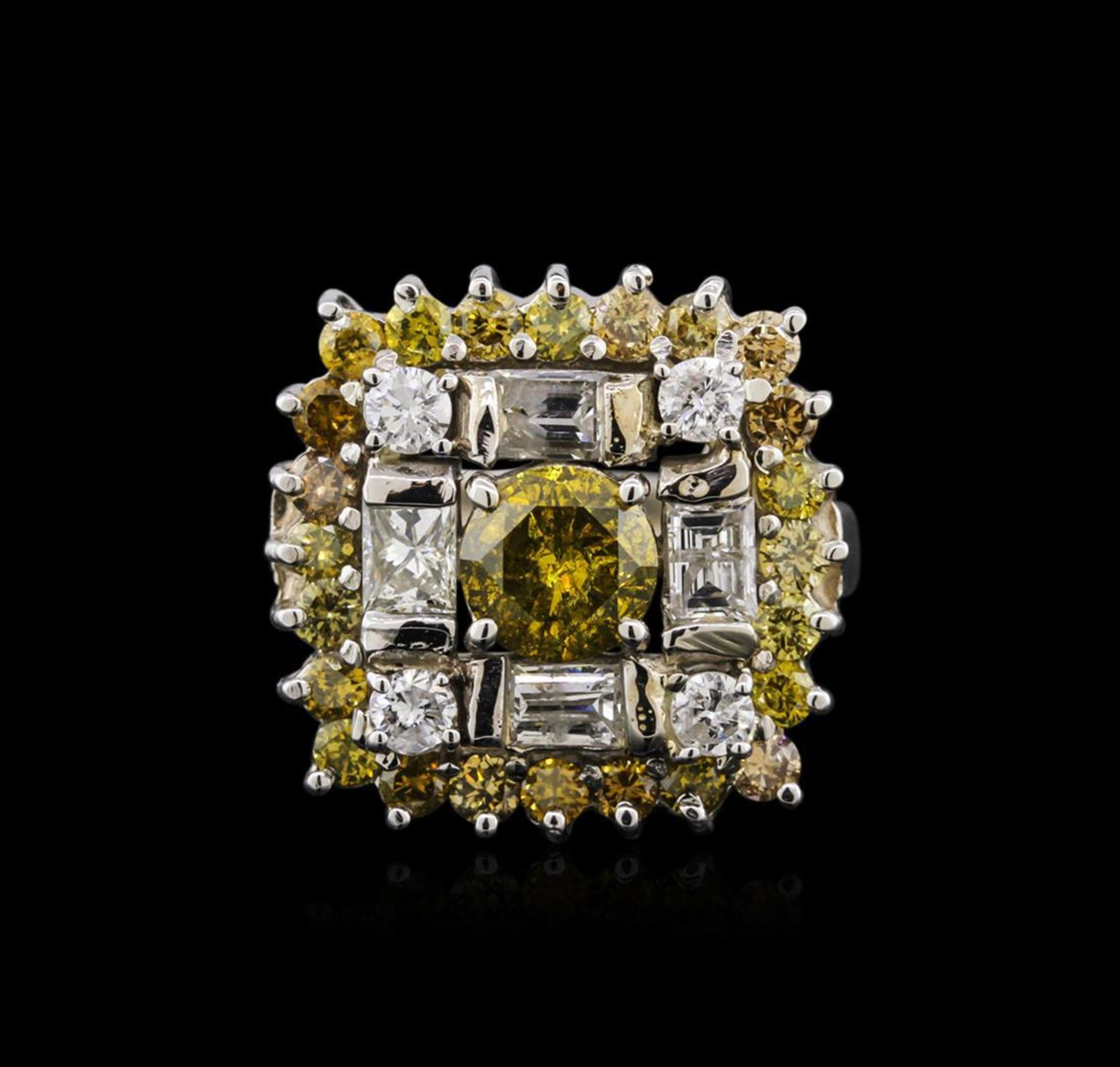 14KT White Gold 2.93 ctw Diamond Ring - Image 2 of 4