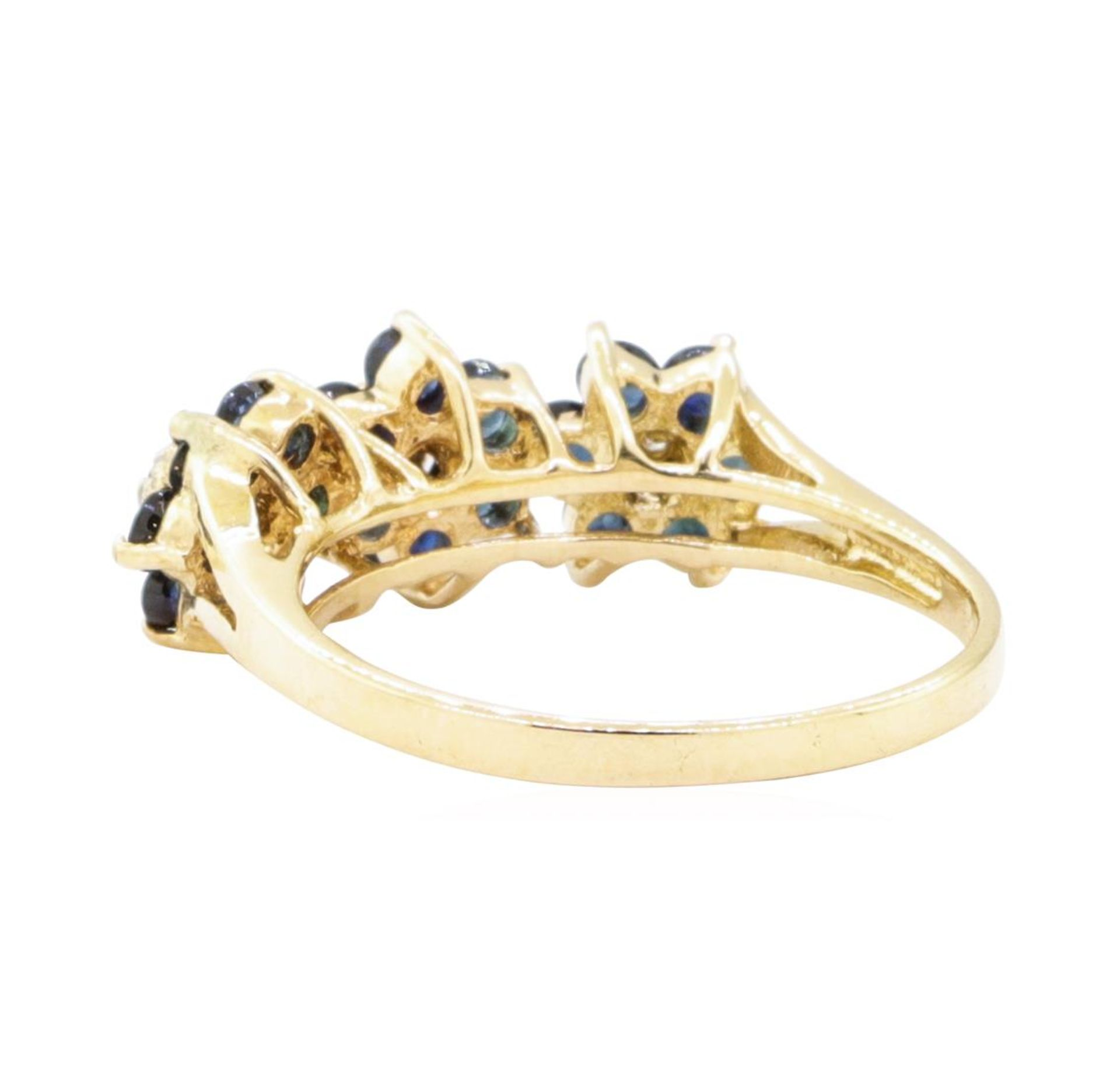 1.05ctw Sapphire and Diamond Ring - 14KT Yellow Gold - Image 3 of 4