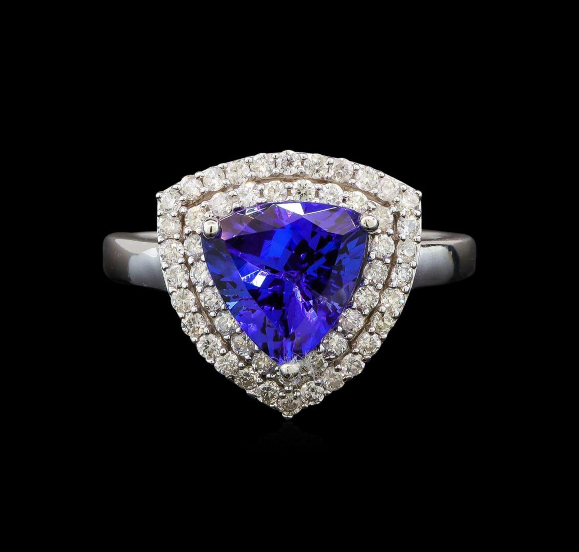 14KT White Gold 2.09 ctw Tanzanite and Diamond Ring - Image 2 of 5