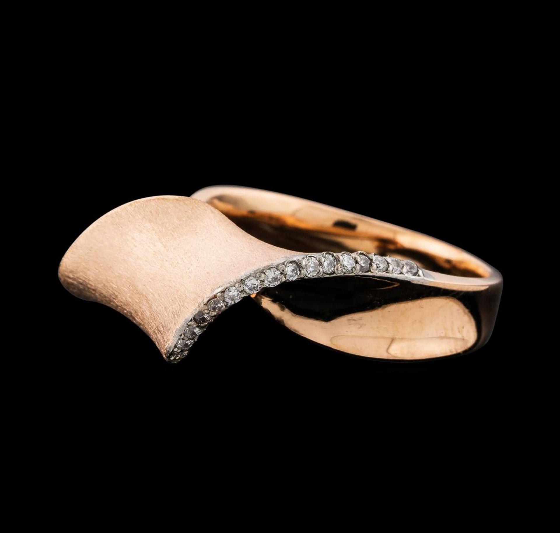 0.15 ctw Diamond Ring - 14KT Rose Gold