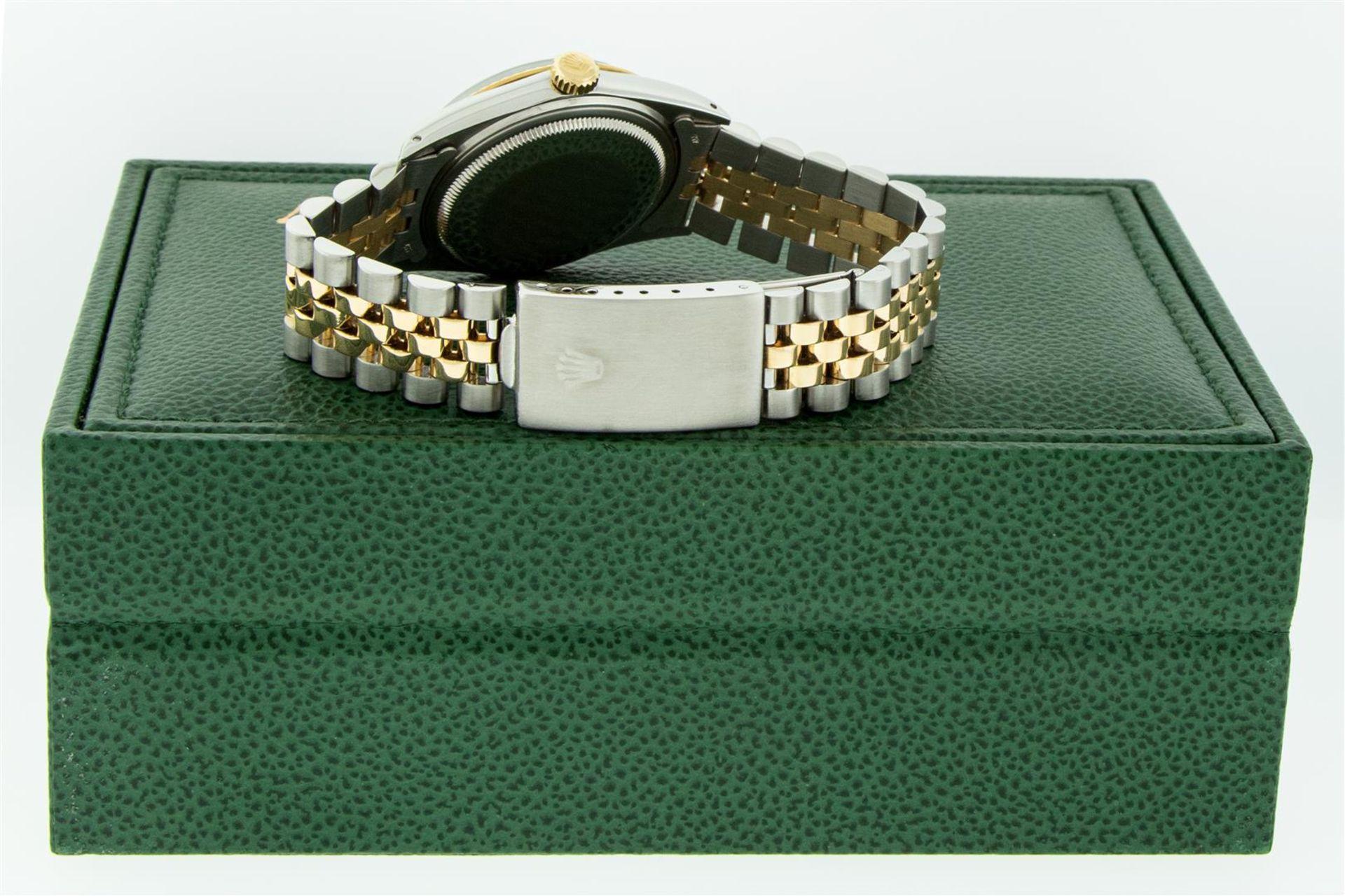 Rolex Mens 2 Tone MOP Diamond Lugs 36MM Datejust Wristwatch - Image 9 of 9