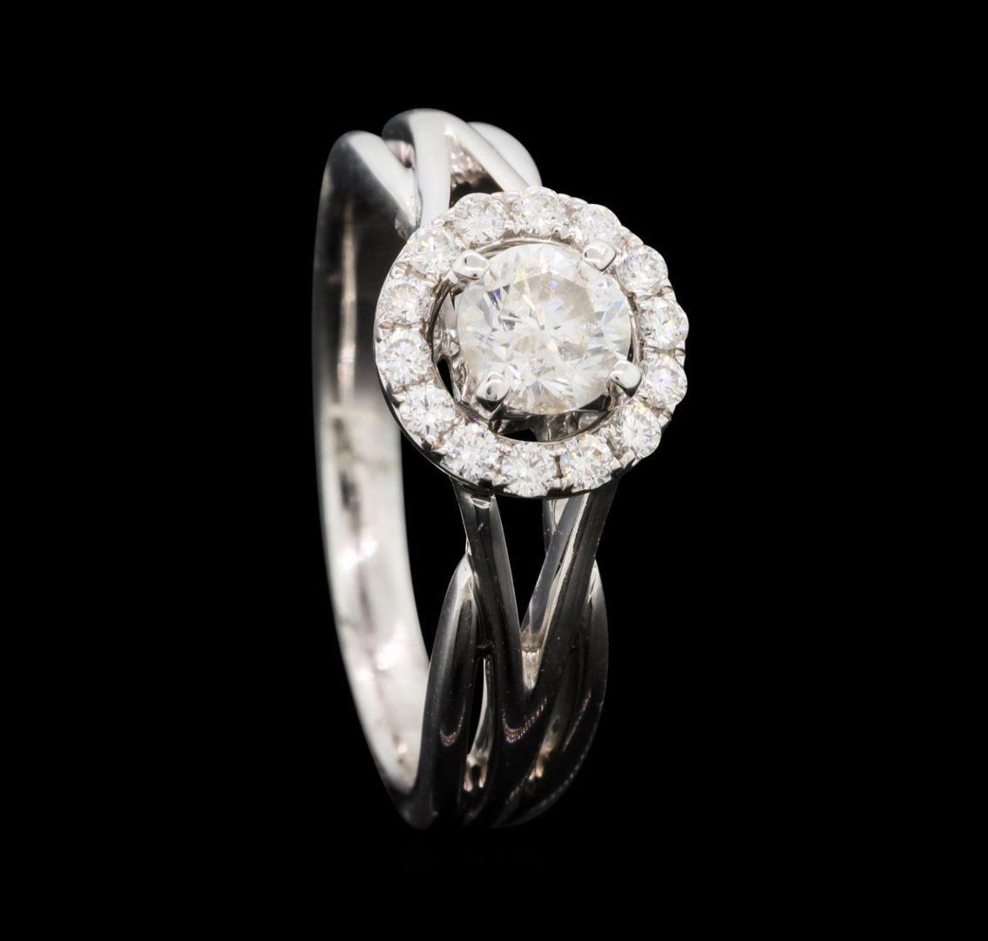 0.74 ctw Diamond Ring - 14KT White Gold - Image 4 of 5