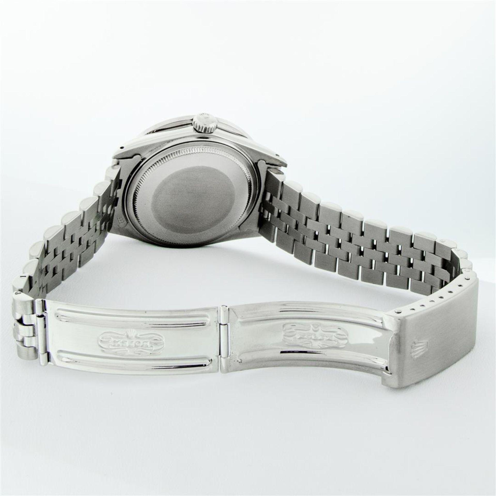 Rolex Mens Stainless Steel Blue Vignette Roman 3ctw Diamond Datejust Wristwatch - Image 9 of 9