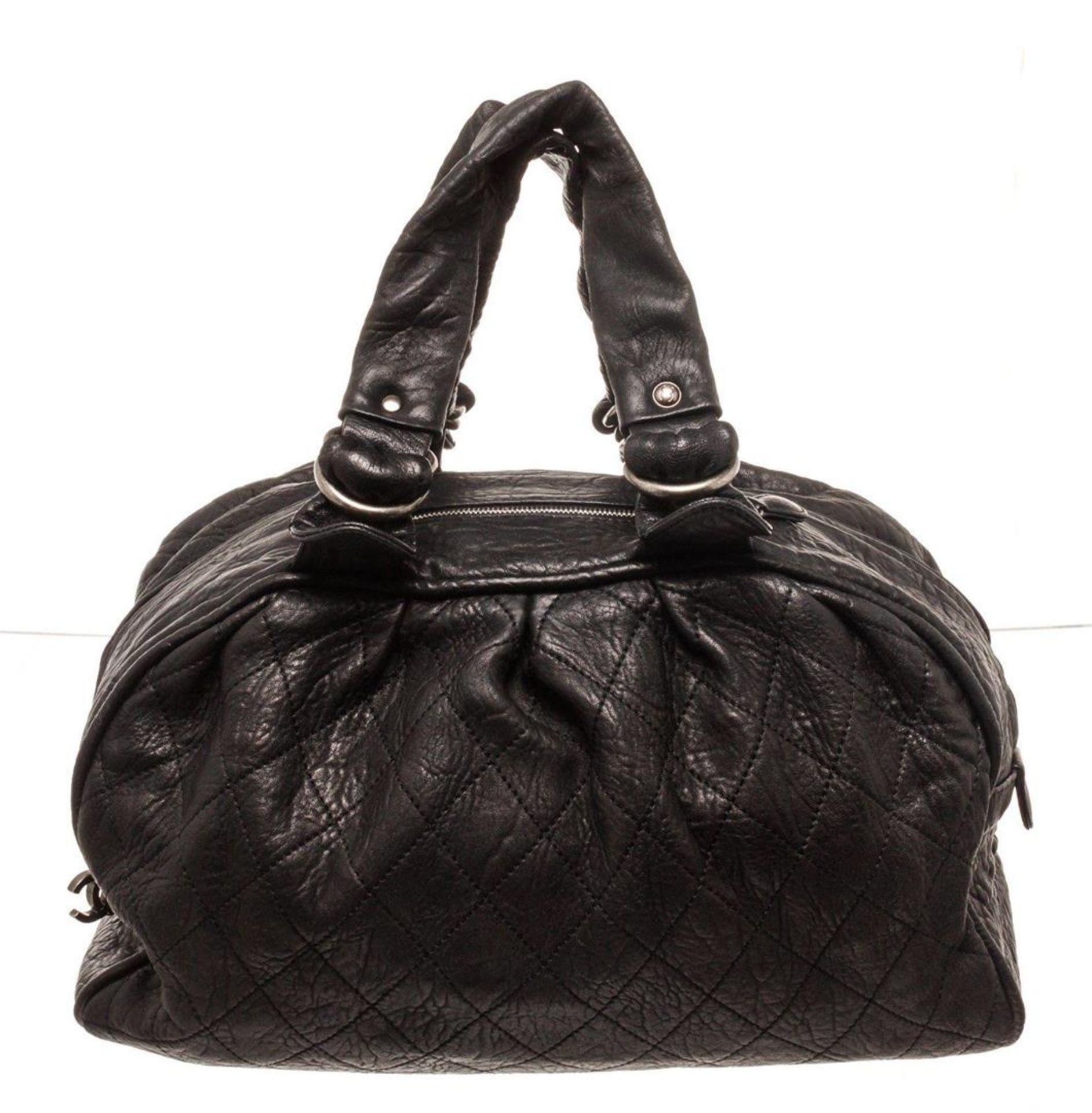 Chanel Black Leather Large Boston Bag
