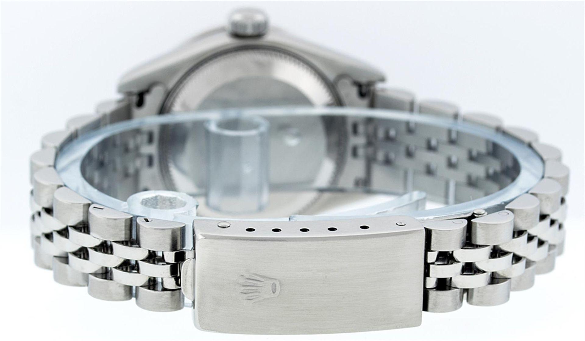Rolex Ladies Stainless Steel Quickset Salmon Diamond Lugs Jubilee Datejust Wrist - Image 7 of 9