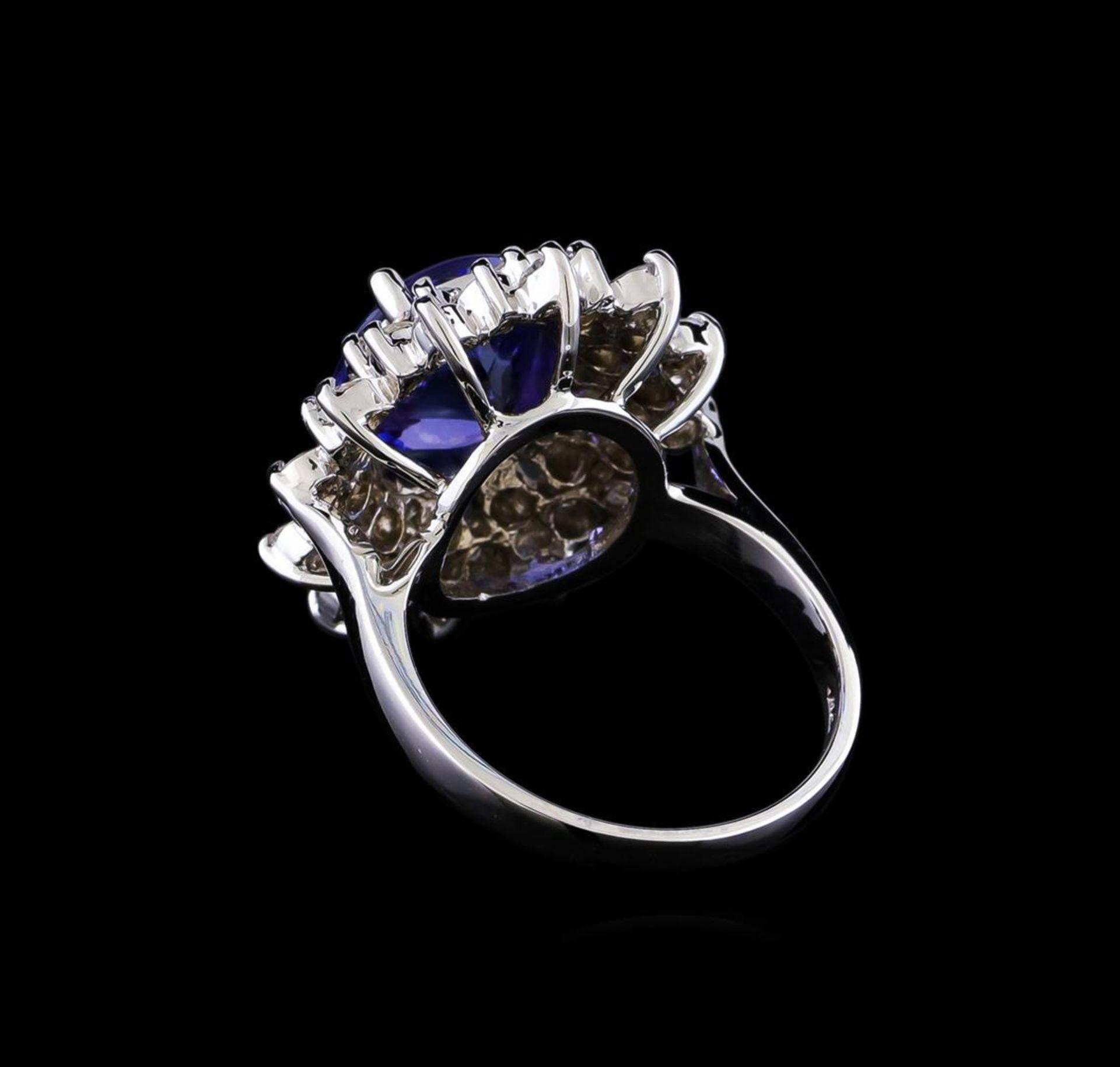 4.01 ctw Tanzanite and Diamond Ring - 14KT White Gold - Image 3 of 5