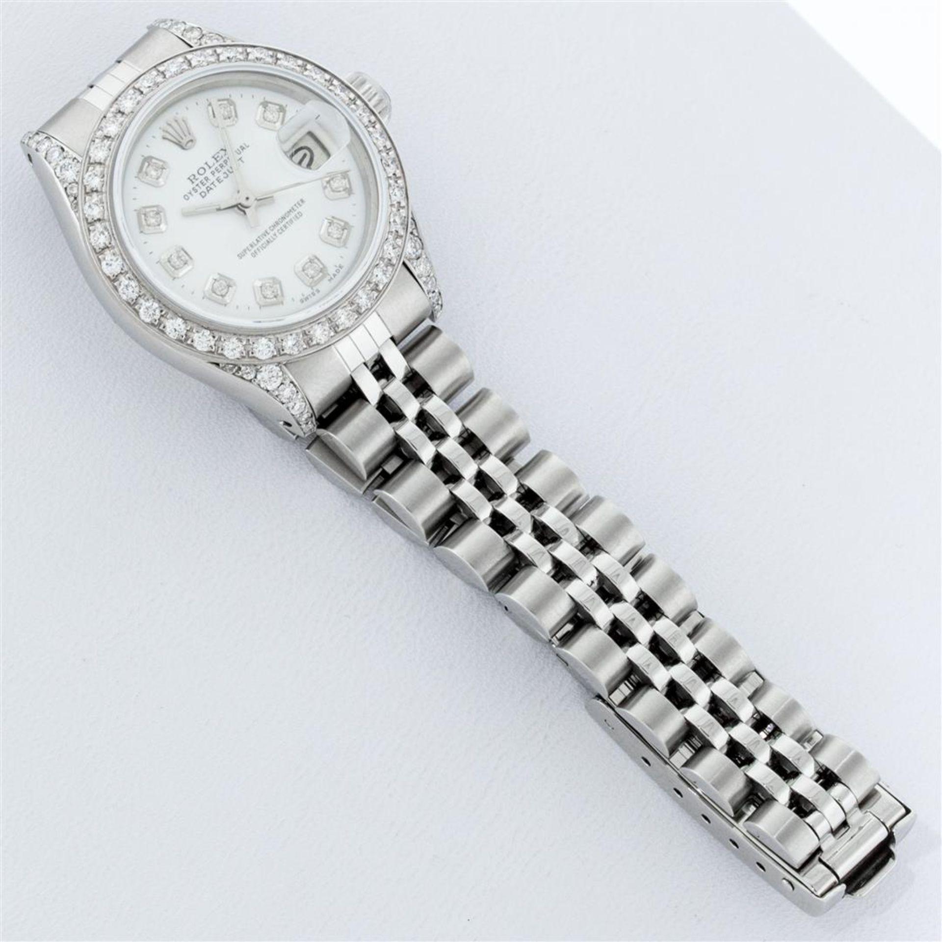 Rolex Ladies Stainless Steel White Diamond Lugs & Datejust Wristwatch - Image 6 of 9