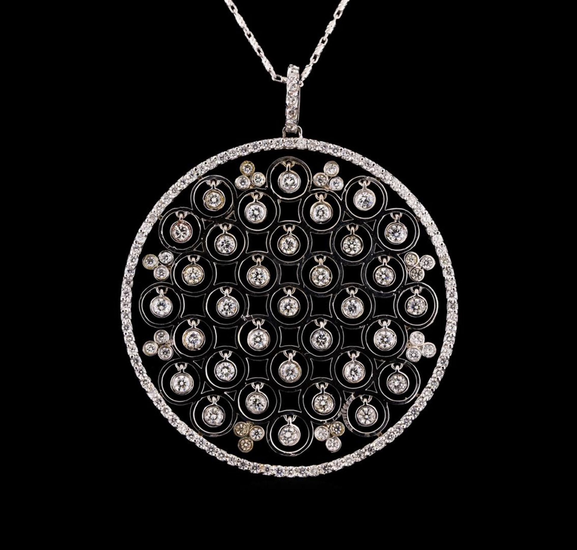 14KT White Gold 1.40 ctw Diamond Pendant With Chain - Image 2 of 3