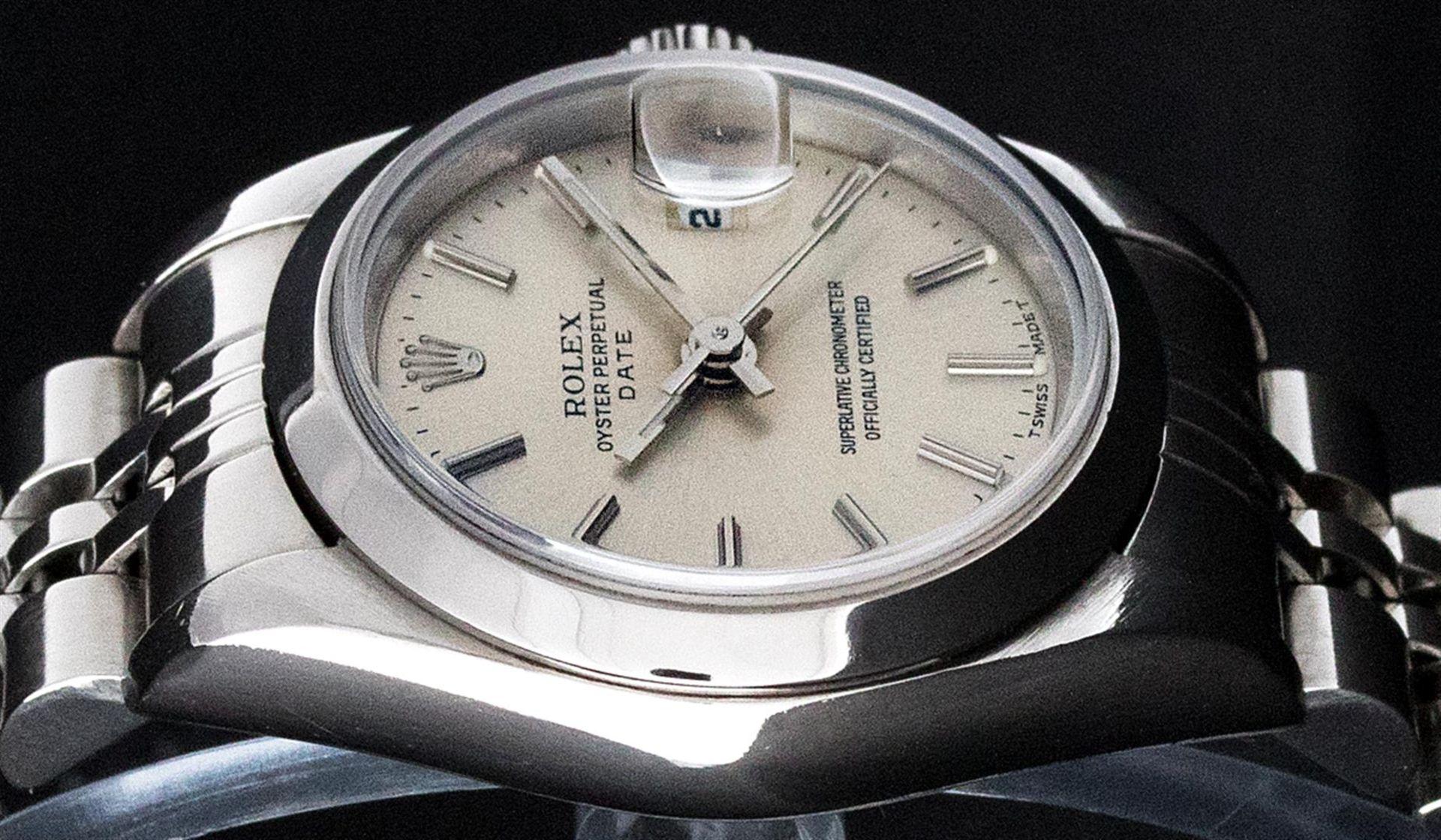 Rolex Ladies Stainless Steel Silver Index 26MM Quickset Datejust Wristwatch - Image 2 of 9