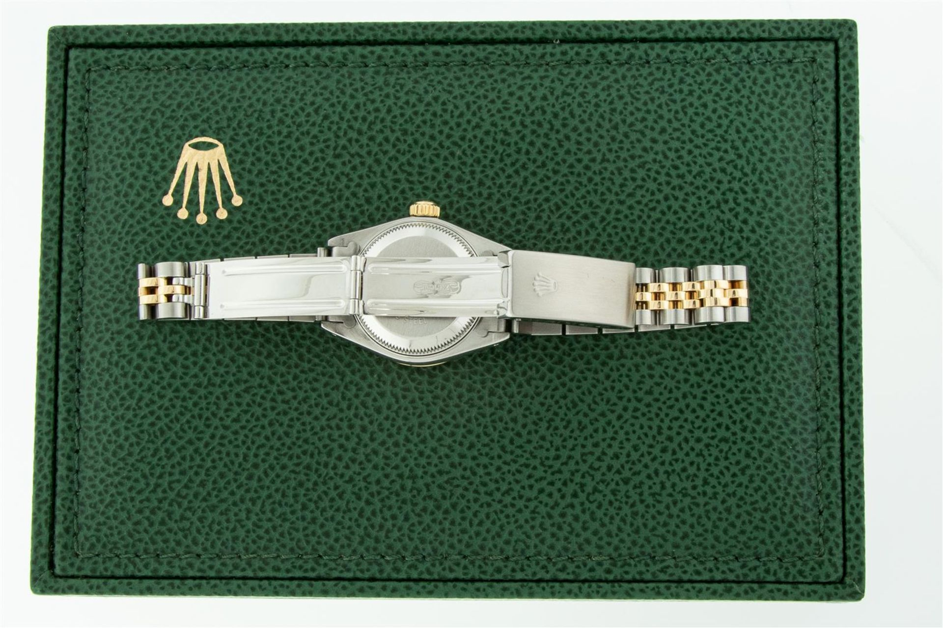 Rolex Ladies 2 Tone Silver Diamond & Ruby Oyster Perpetual Datejust Wristwatch - Image 9 of 9