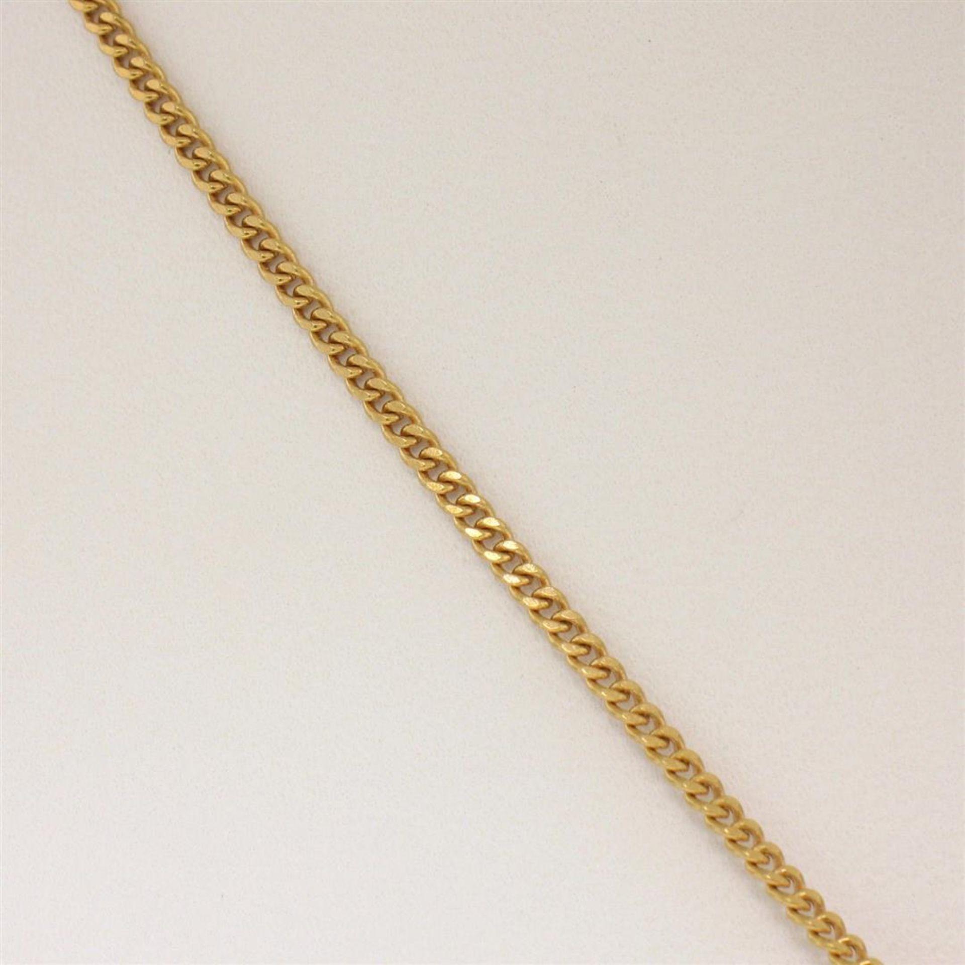 "14K Yellow Gold 3.77ctw VS Diamond Green Amethyst Pendant w/ 20"" Curb Chain - Image 4 of 7"