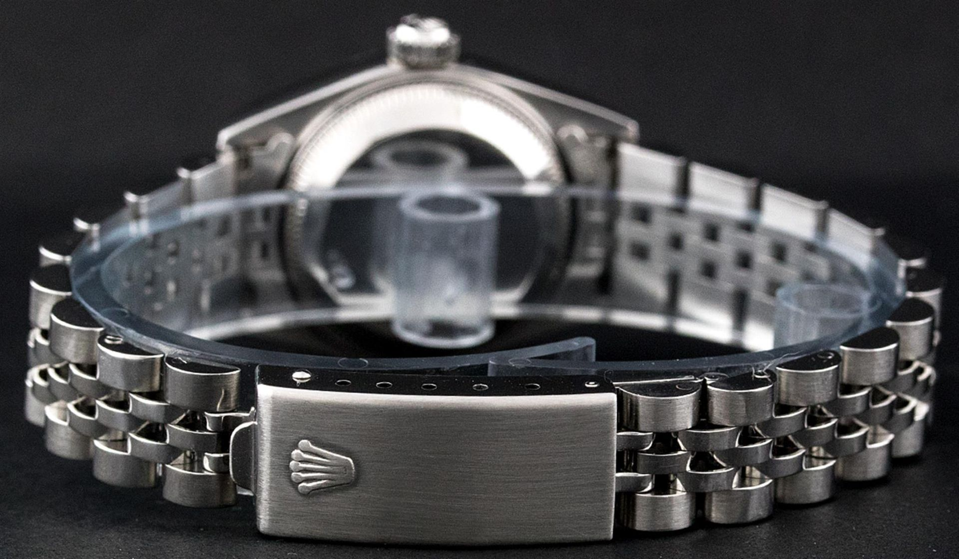 Rolex Ladies Stainless Steel Silver Index 26MM Quickset Datejust Wristwatch - Image 6 of 9