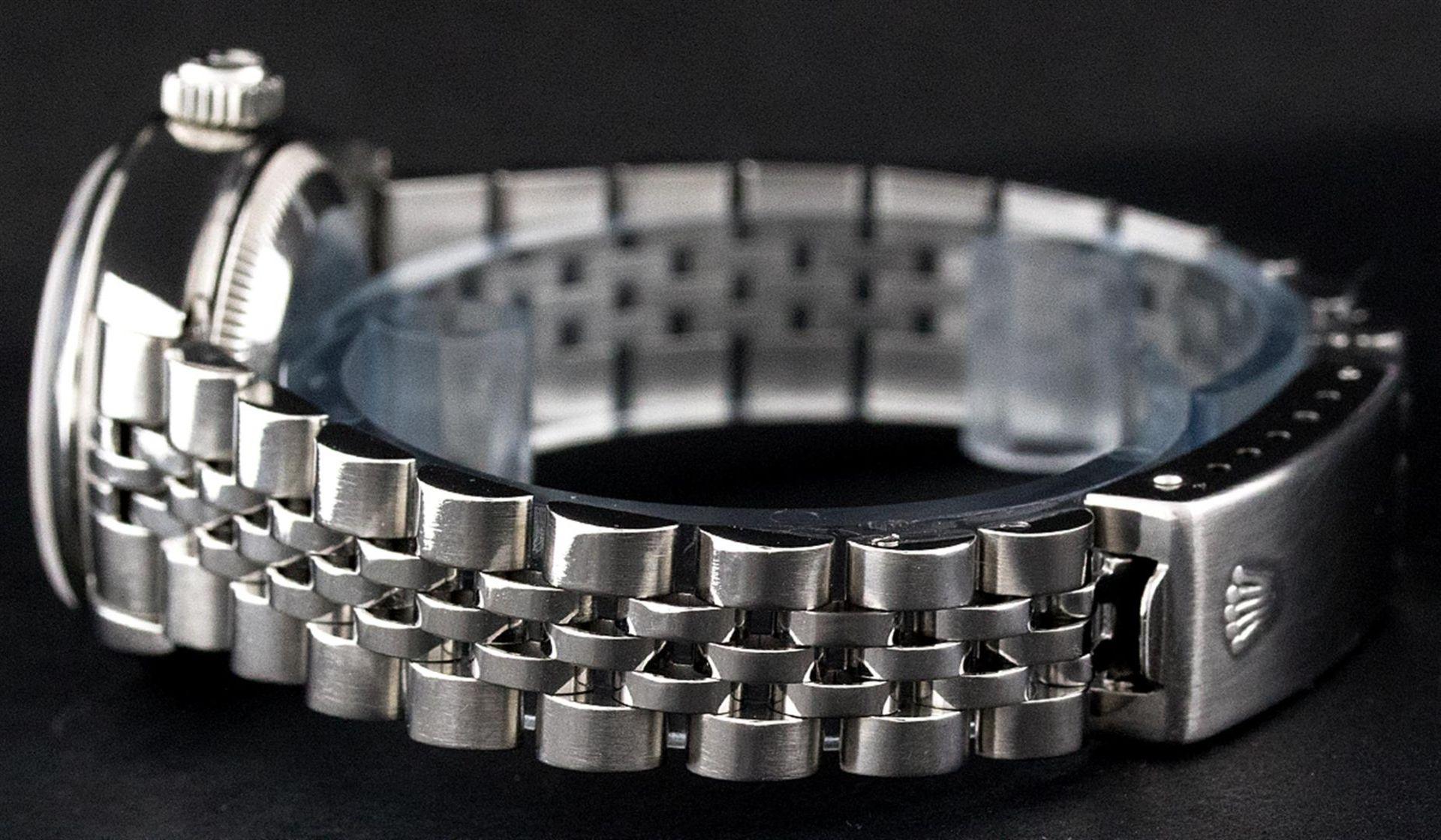 Rolex Ladies Stainless Steel Silver Index 26MM Quickset Datejust Wristwatch - Image 8 of 9